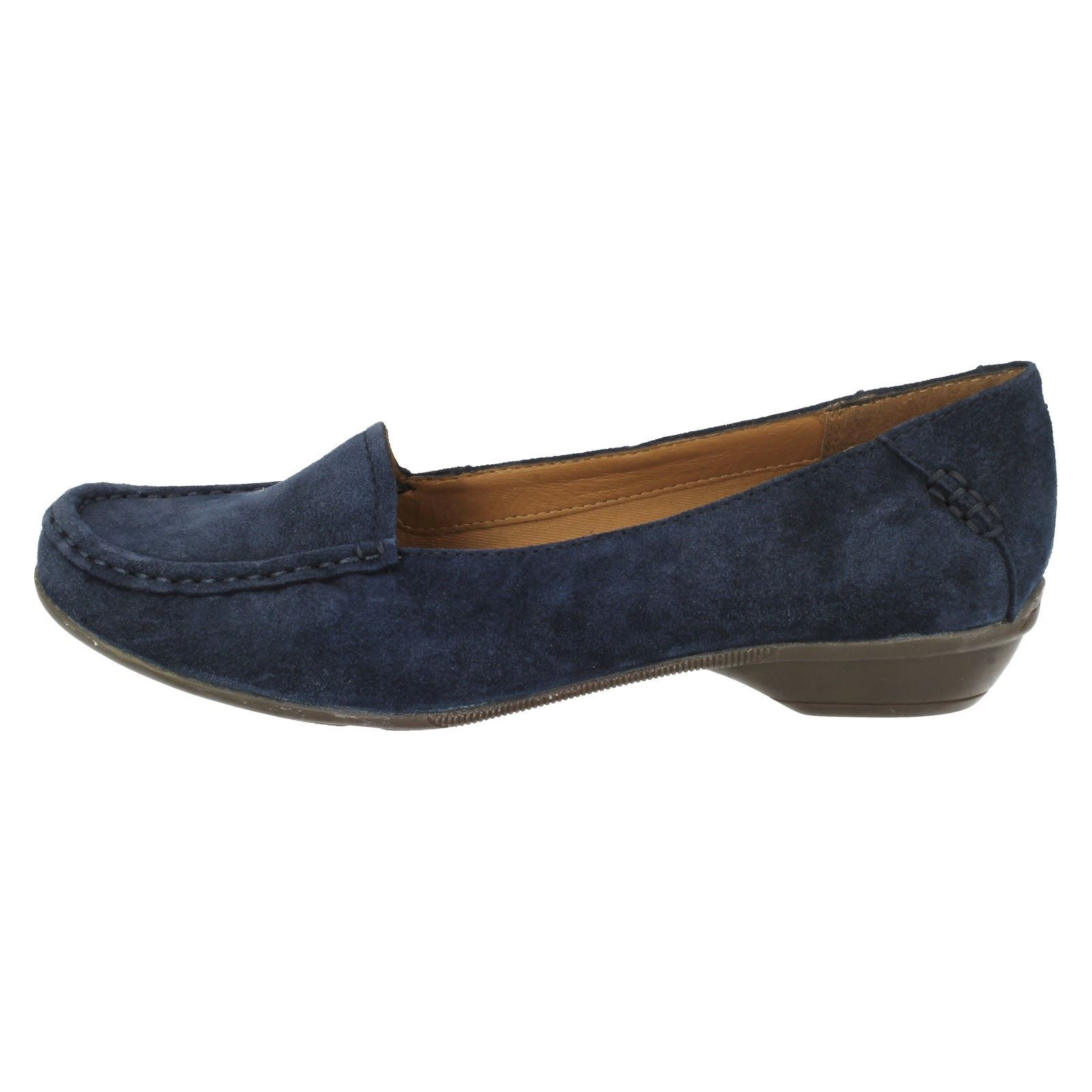 d6823c1f288 Ladies Clarks Loafer Heeled Shoes Gilded Opal Navy UK 6 D. About this  product. Picture 1 of 8  Picture 2 of 8  Picture 3 of 8 ...