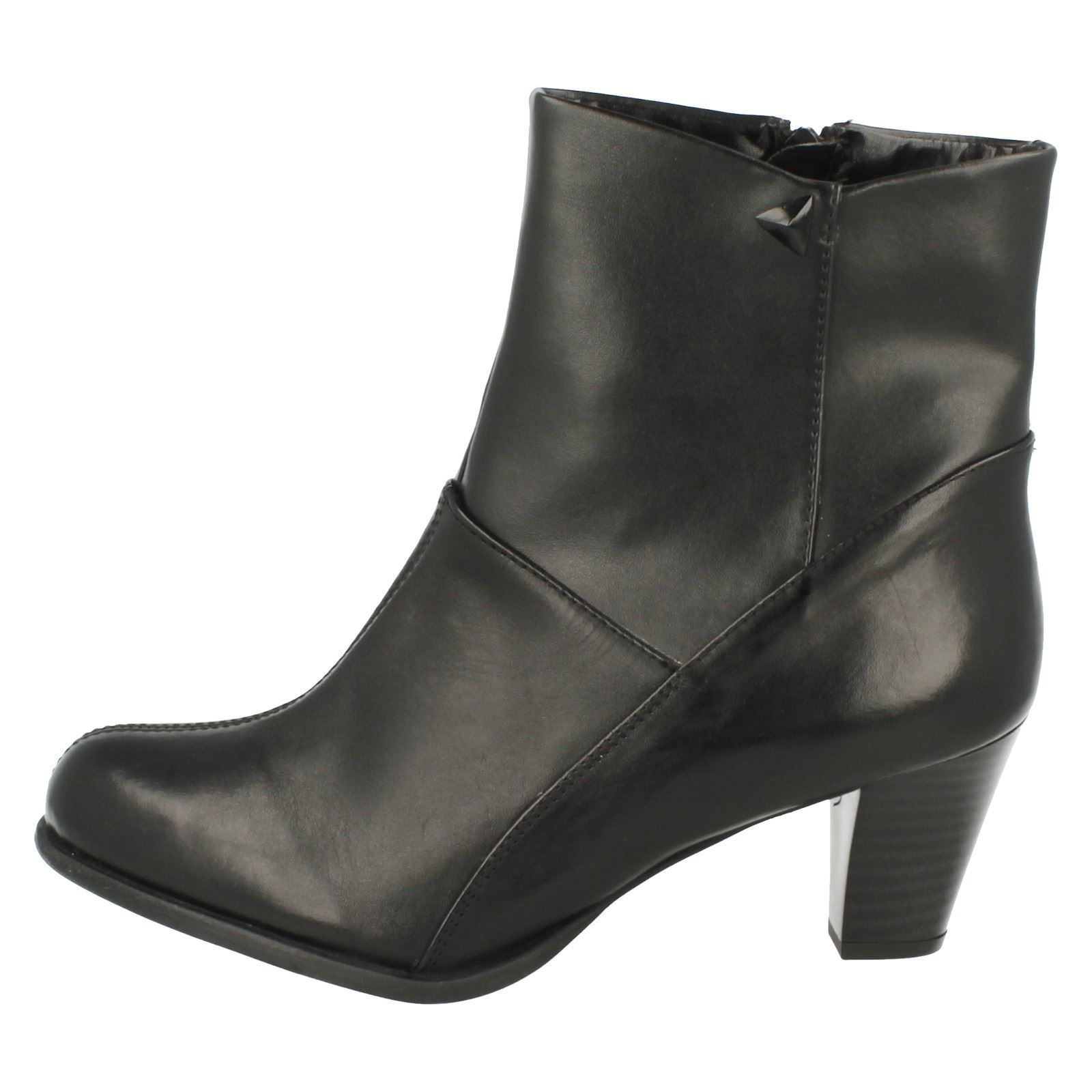 Ladies Clarks Leather Zip Smart Ankle Boots The Style - Lease Party