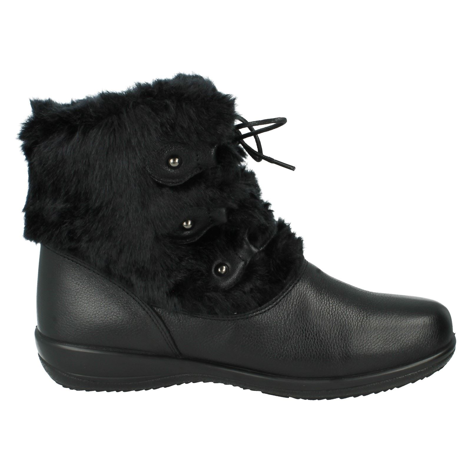 Kim Ankle Ladies Boots Black The Style Padders XFXwfqA