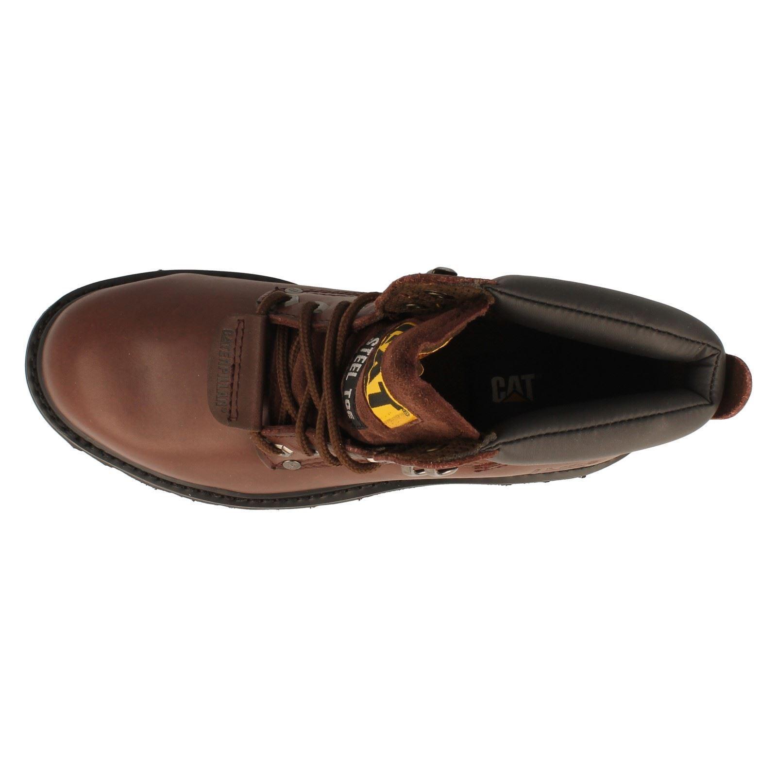 Mens Caterpillar Steel Toe Safety Work Boots Label - Sheffield