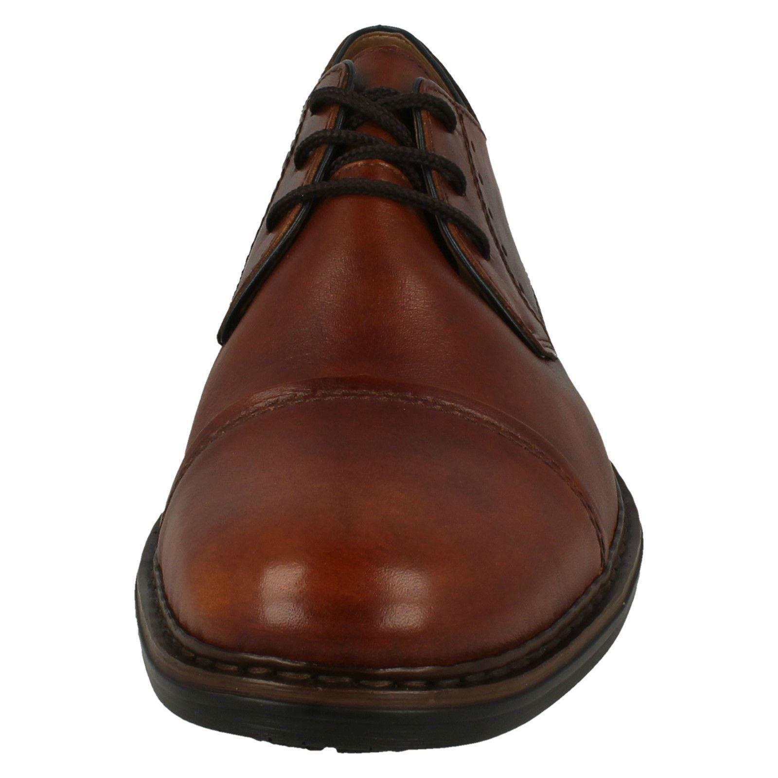 Style17617 Cap Rieker Smart Toe Formal Shoes Brown Lace Mens Up Leather TlF13KJc
