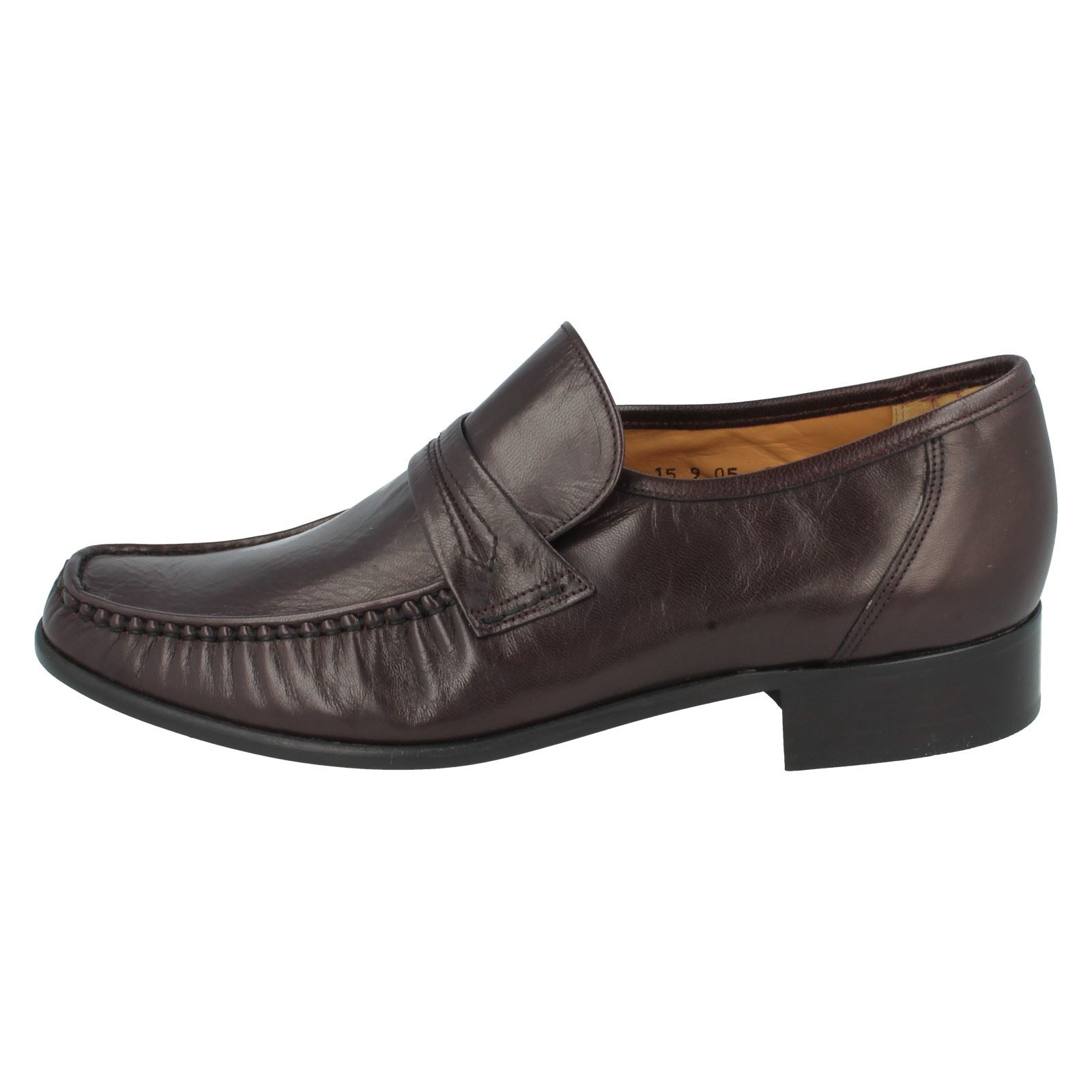 mens grenson slip on leather g fit moccasins formal shoes
