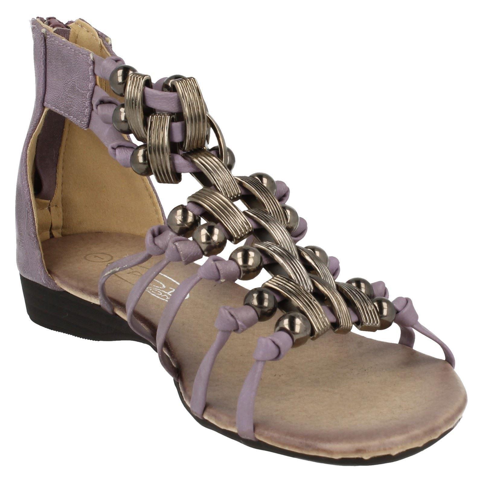Girls Spot On Gladiator Sandals H1020 Style ~ K