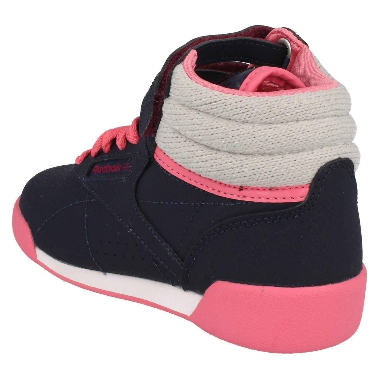 Girls Reebok Trainers 'Hi Cozy Craze' Coated Leather/Textile The Style ~ K