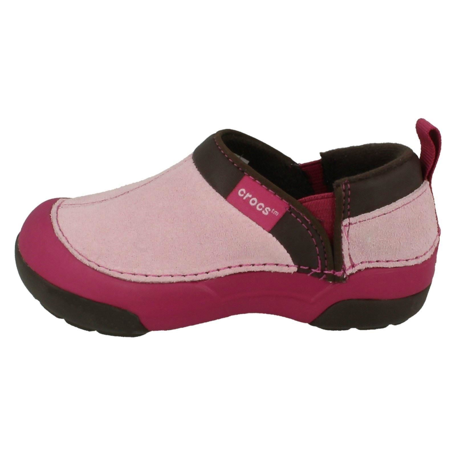 Niñas Crocs Slip On Zapatos Estilo astucia Cameron Kids ~ N