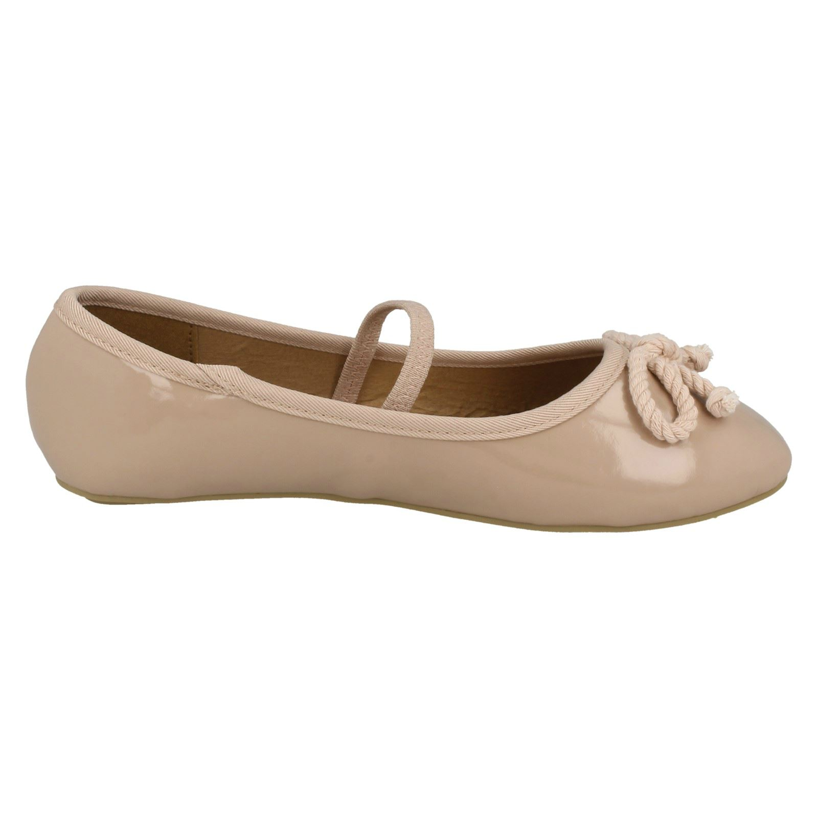 Girls Spot On Elastic Bar Ballerinas The Style H2429 ~ N