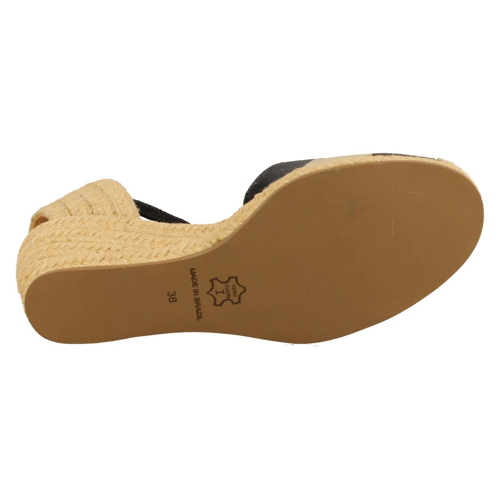 Blue Wedge Globo w Style Ladies Sandals Close navy cream Candy Toe 8H5xZ7