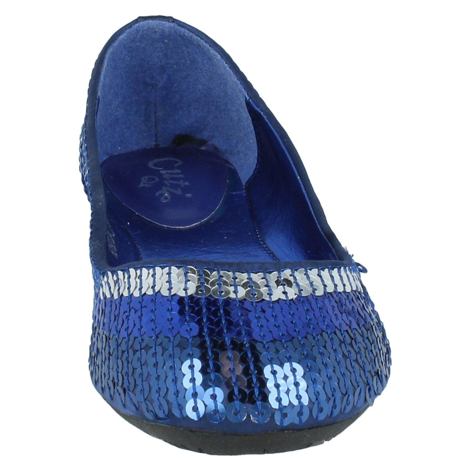 Chicas Cutie Qt Lentejuelas Zapatos h2193