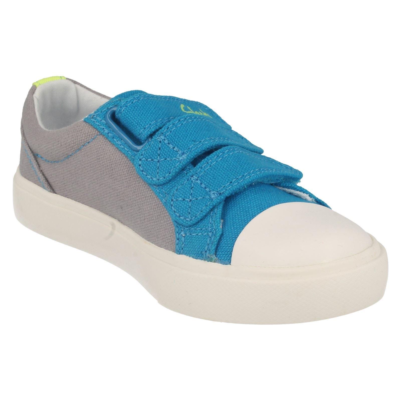 Boys Clarks Sasonal Canvas Summer Shoes Label - Club Halcy