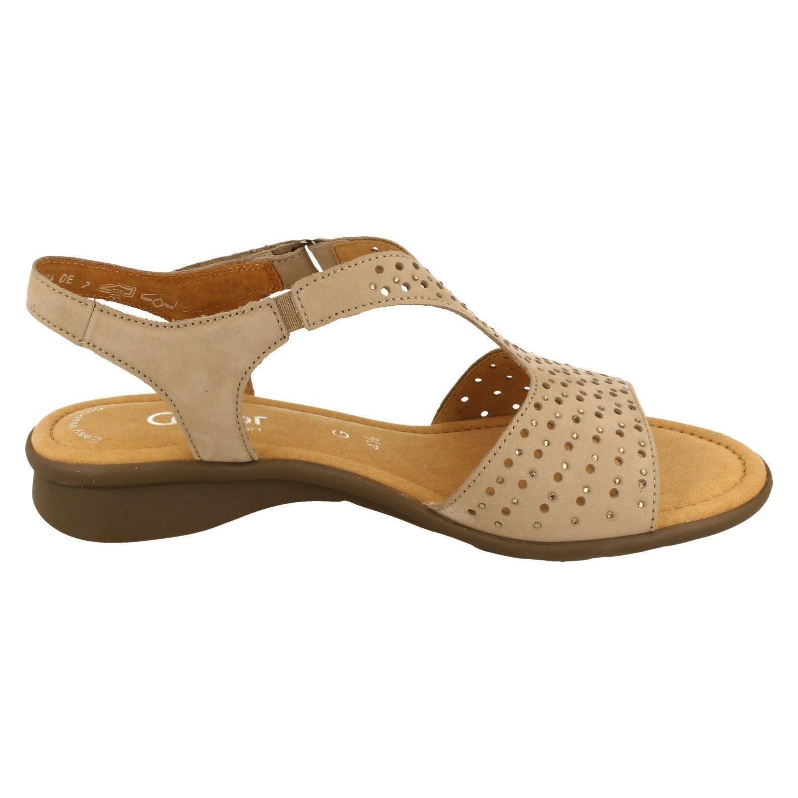 Style Torin Ladies w Gabor taupe Nubuck Visone Sandals 86064 wq4P1p