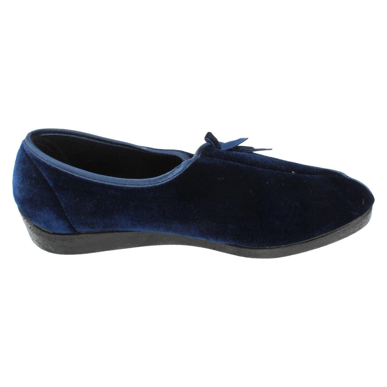 Ladies MARTHA navy wedge slipper by FOUR SEASONS Retail �.99