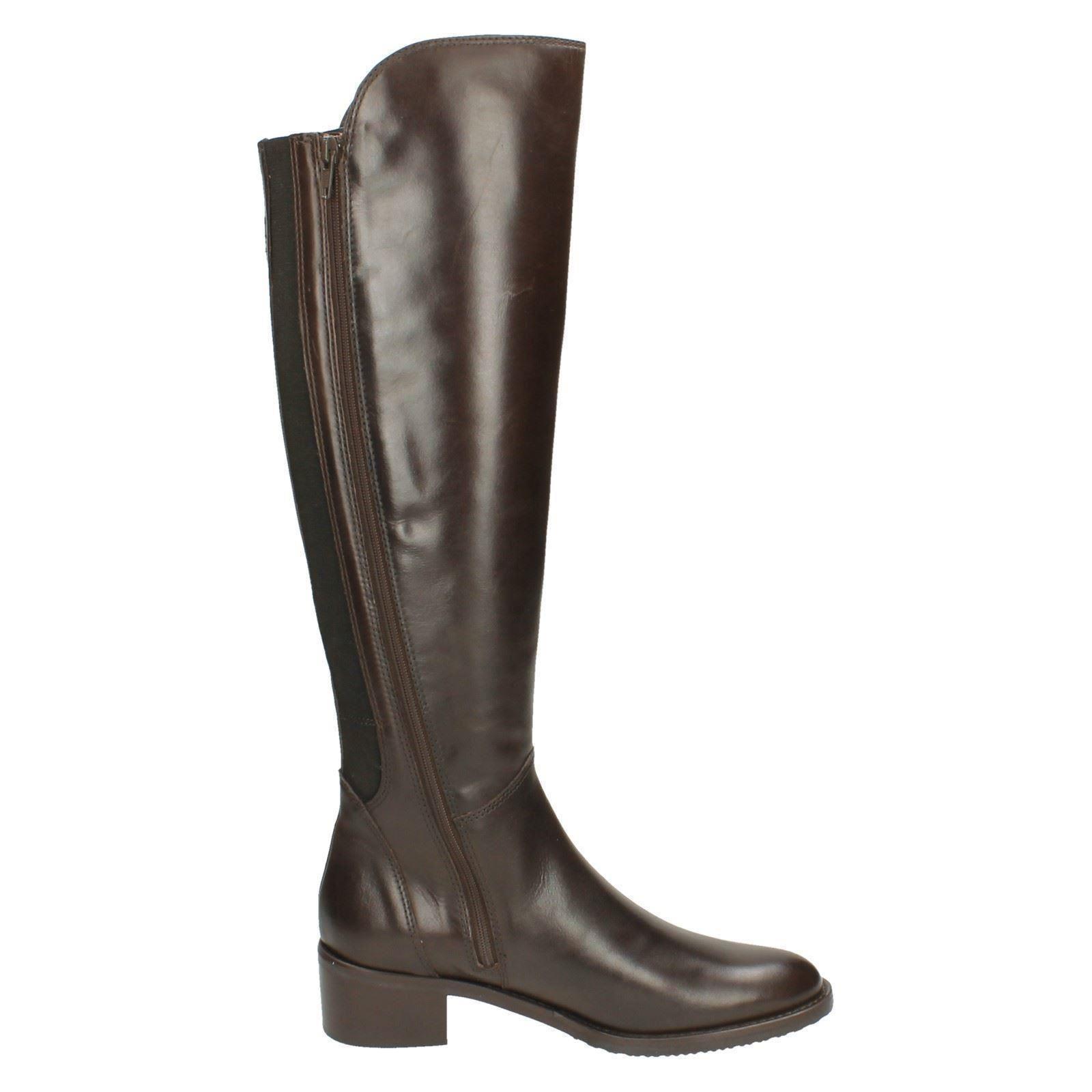 Onorevoli Clarks Equitazione Stile Stivali Stivali Stile alti con etichetta-valana MELROSE 03aa5b