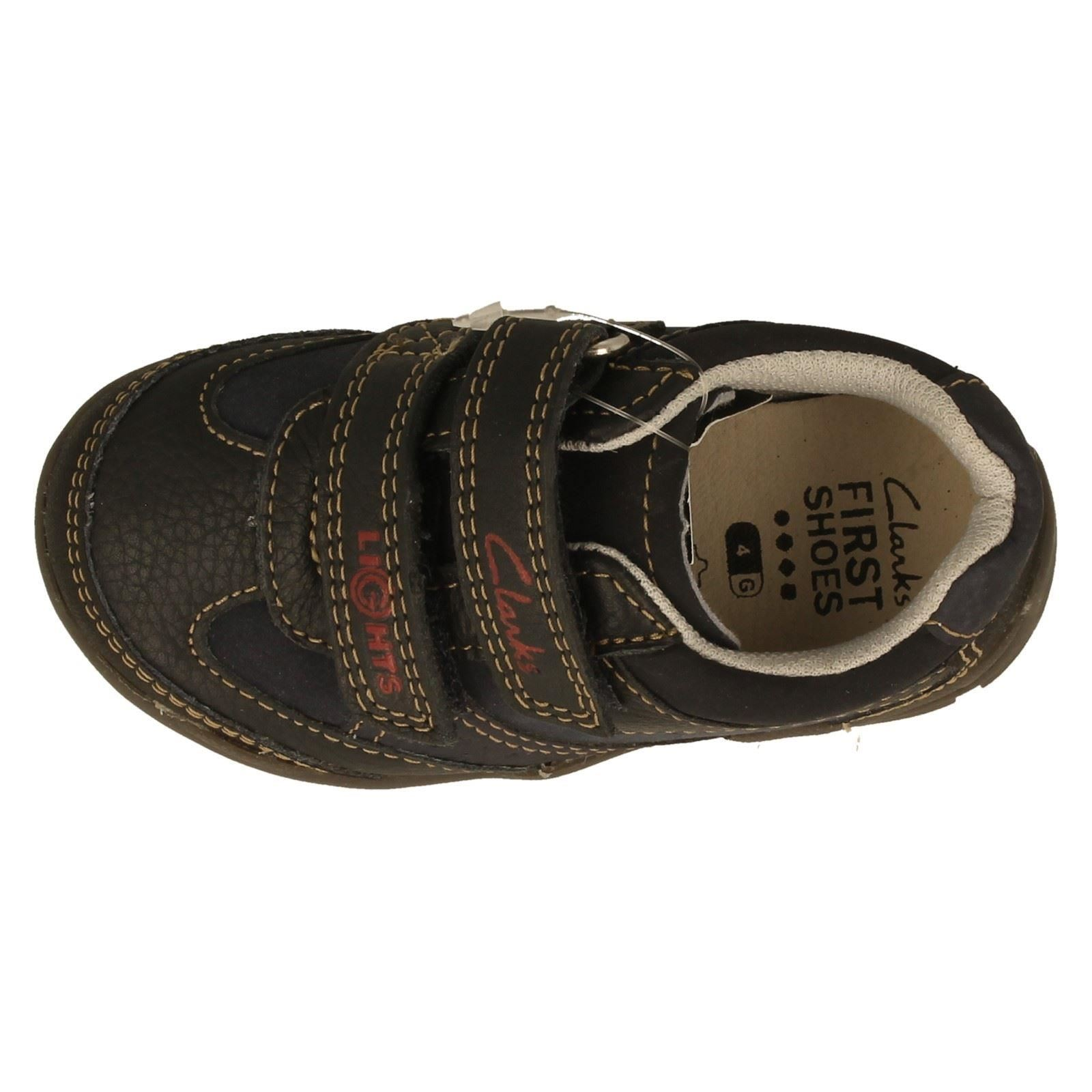Boys Clarks Casual First Shoes Label Flashtime