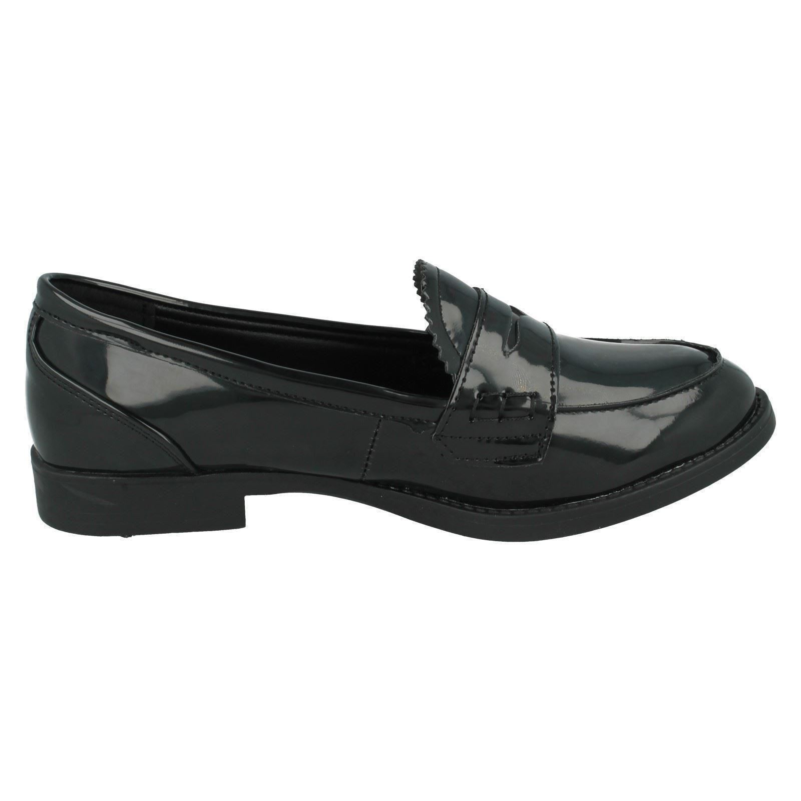 Girls Spot On School Shoes The Style - H3027