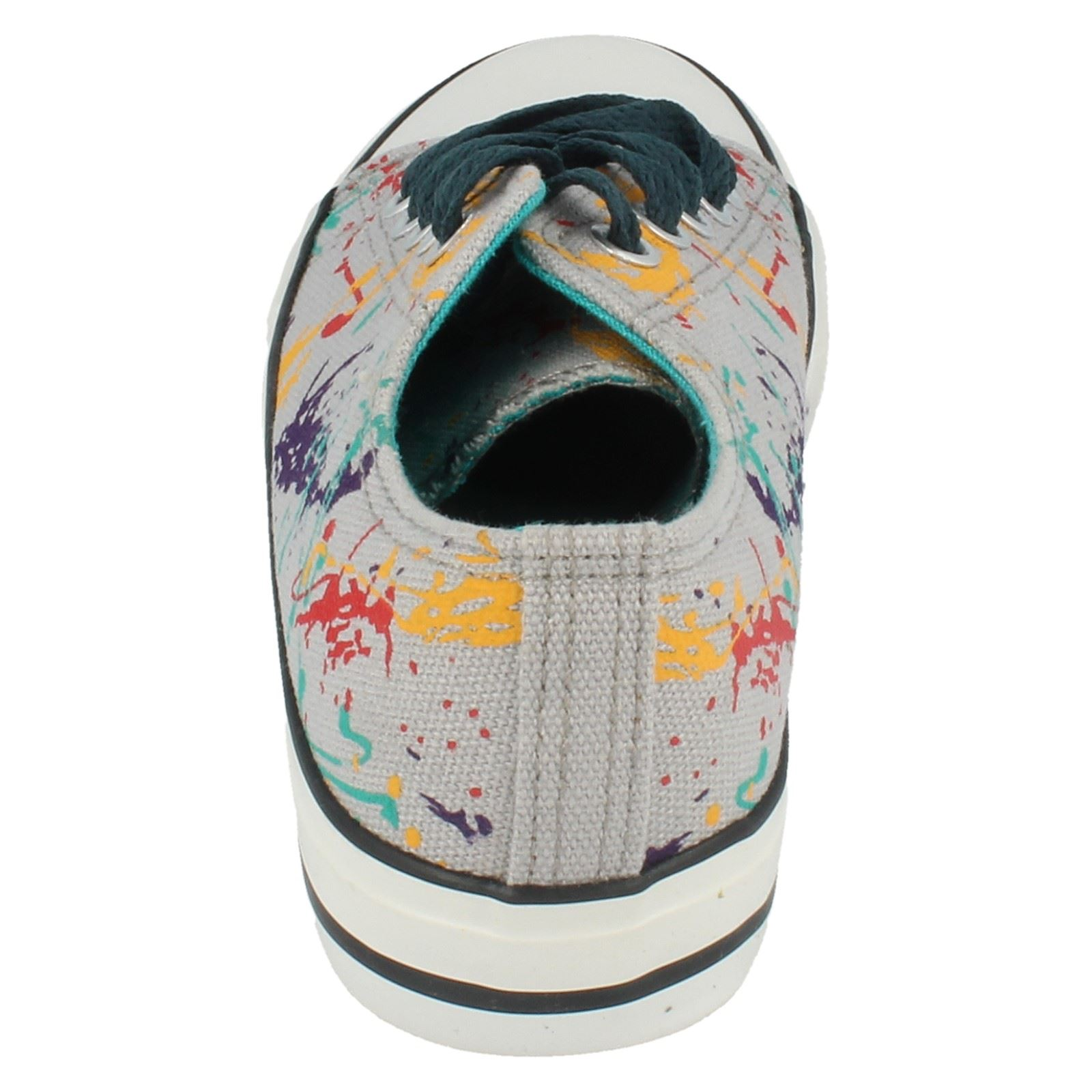 Childrens Canvas Lace Up Shoes - Label N1075 ~ N