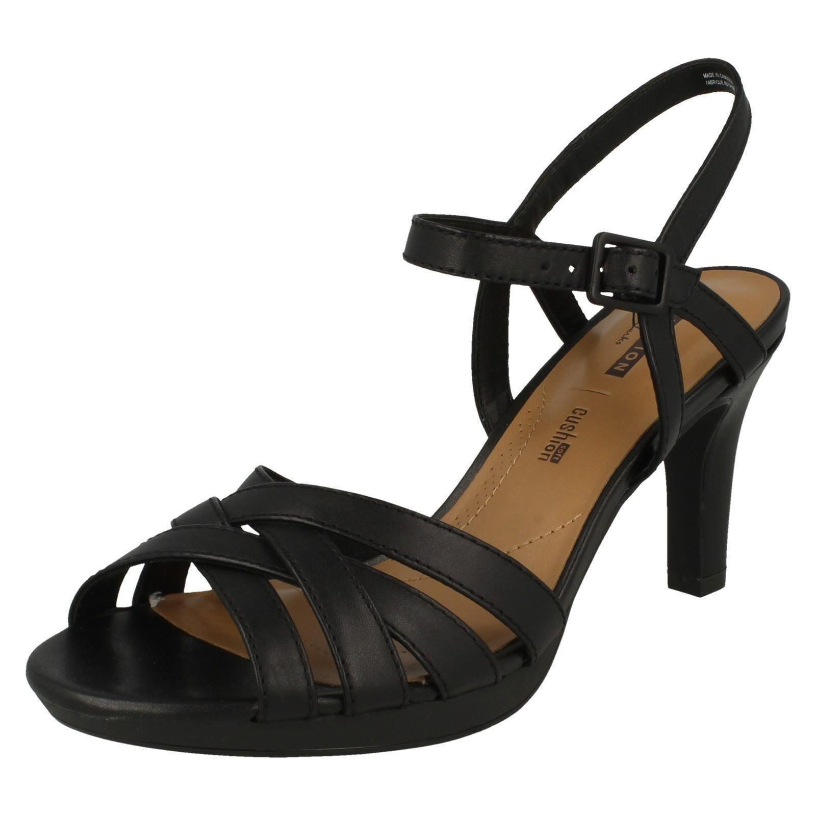c496aadefb5 Women s Clarks Adriel Wavy Strap Sandals in Black UK 4   EU 37. About this  product. Picture 1 of 7  Picture 2 of 7 ...