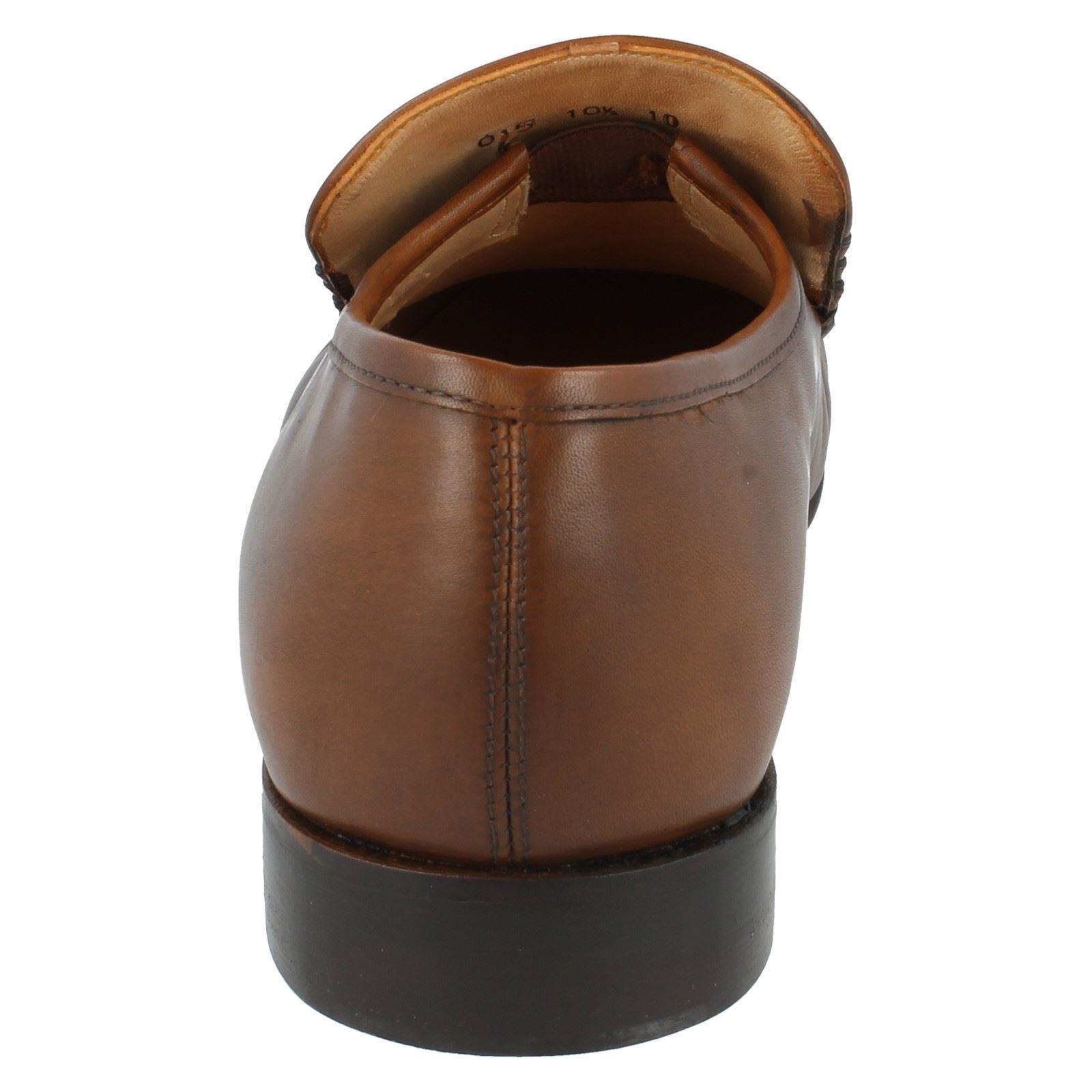 Herren Grenson Slip On Leder Schuhes F Fit Moccasin Formal Schuhes Leder Idaho 9682 12d043