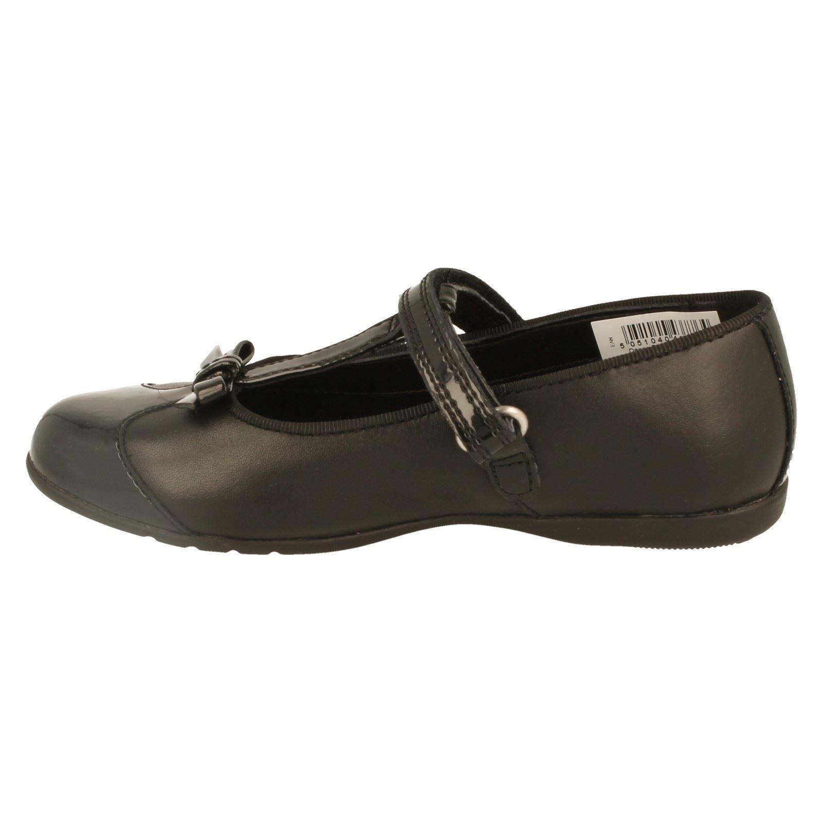 Girls Clarks Smart Shoes The Style Dance Bow -W