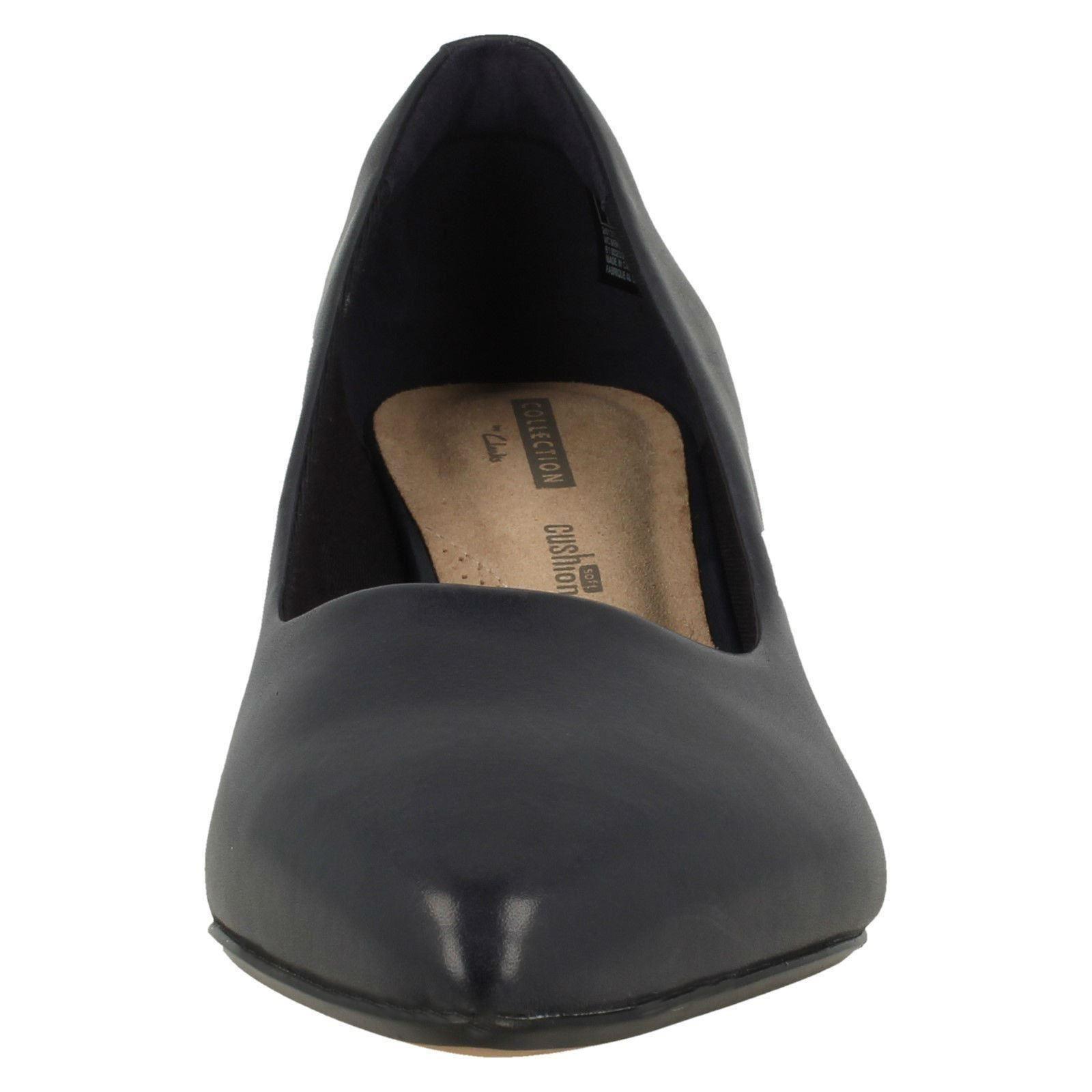 mesdames clarks, basse talon glisse sur les chaussures en cuir basse clarks, cour linvale jerica a322a7