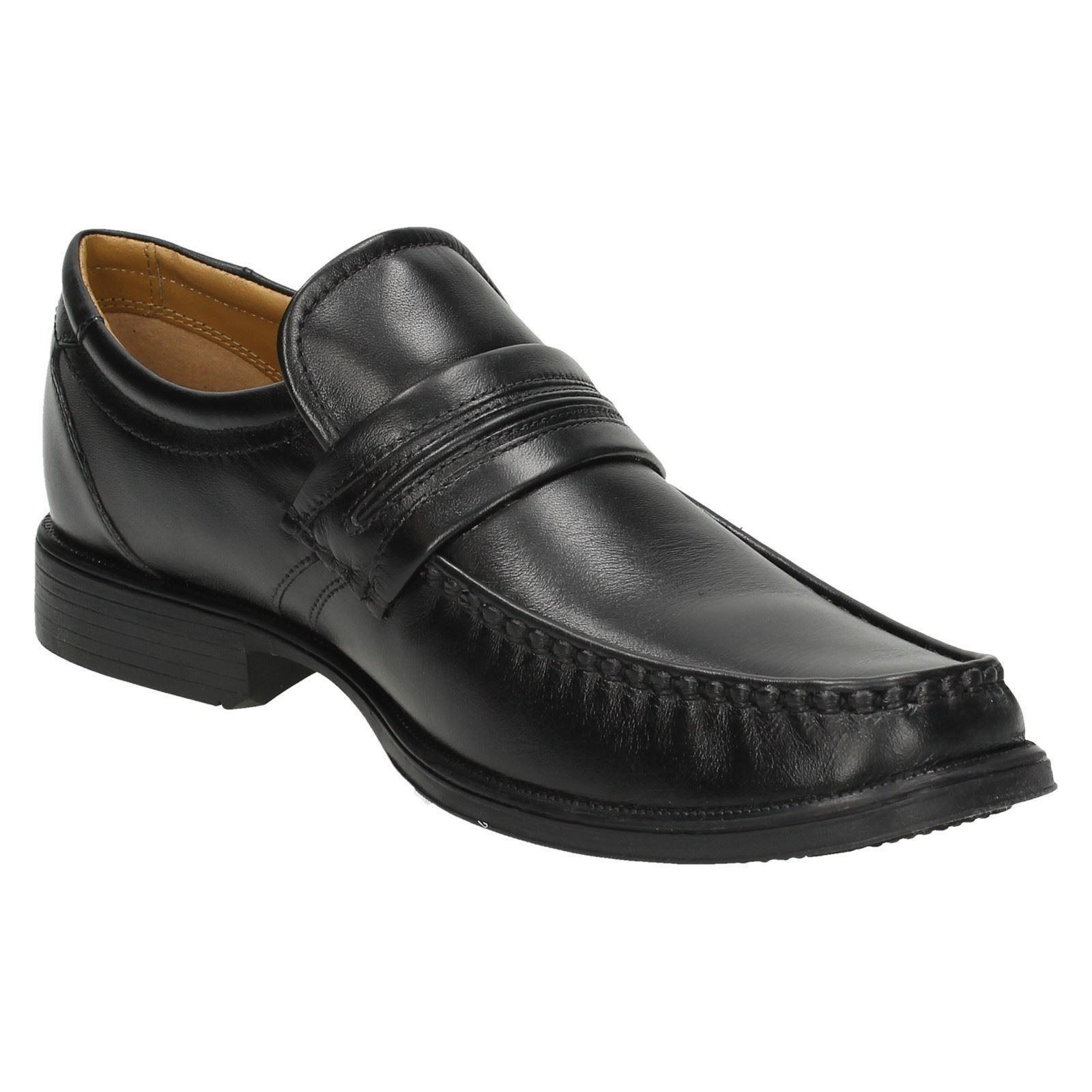 Uomo Clarks Slip Work On Shoes Style Handle Work Slip ~ N 9130d5