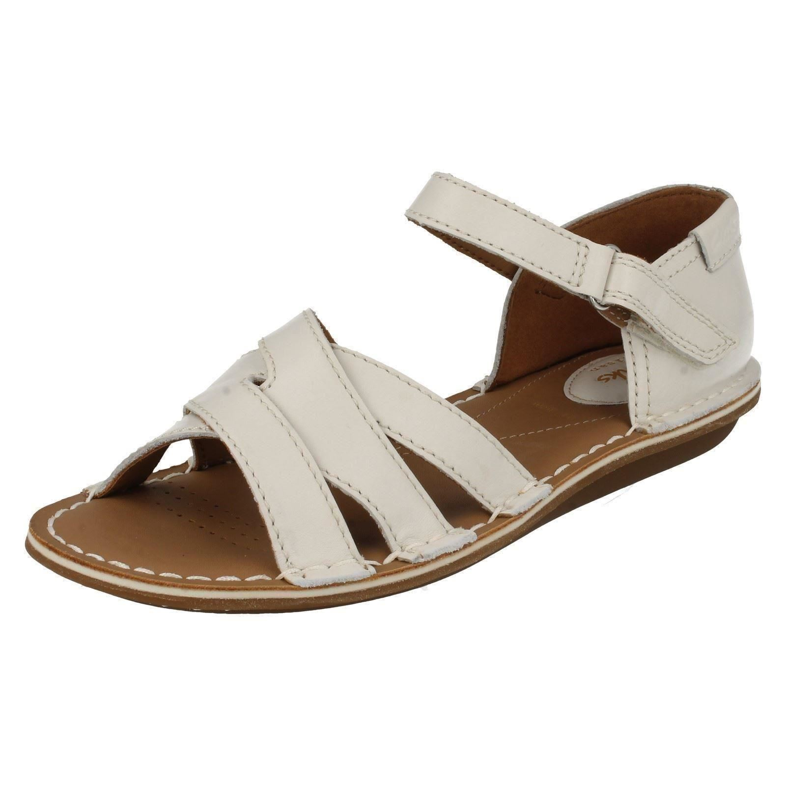 b53f3ff838a7 Ladies Clarks Tustin Sahara Leather Casual Sandals E Fitting UK 8 off White.  About this product. Picture 1 of 9  Picture 2 of 9 ...