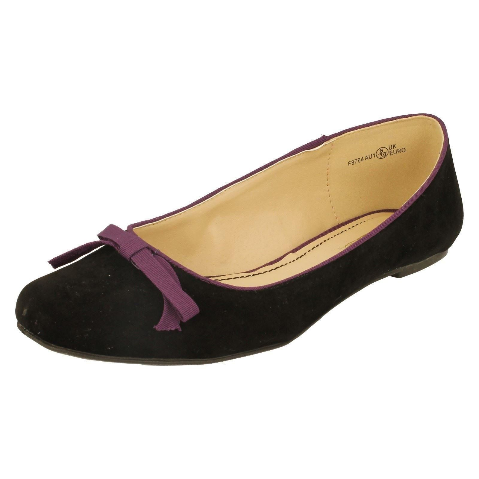 Damas Spot On Zapatos Estilo Estilo Ballet F8764-W
