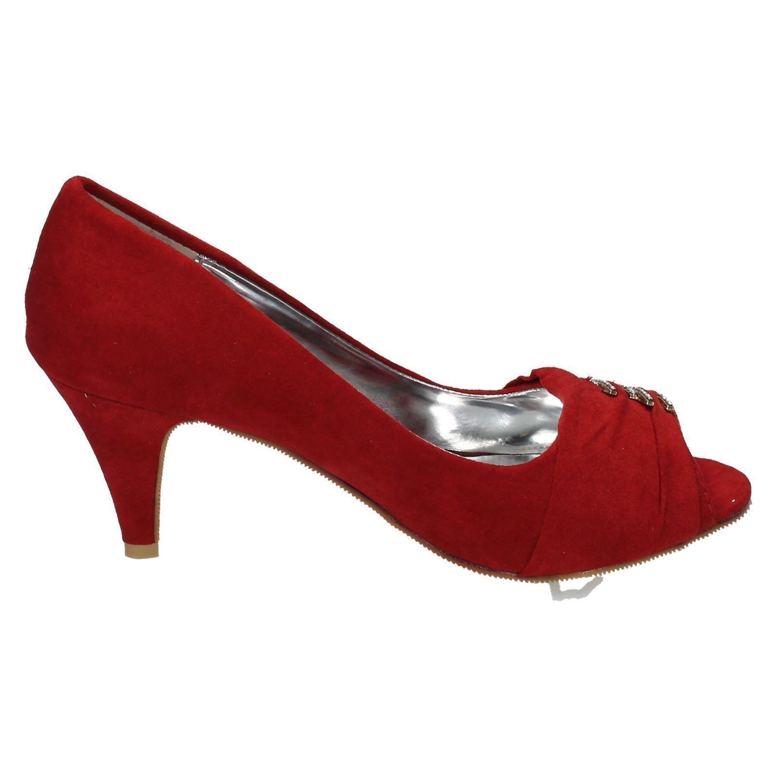 Damas Spot on F10151 Tribunal Zapatos Etiqueta ~ K