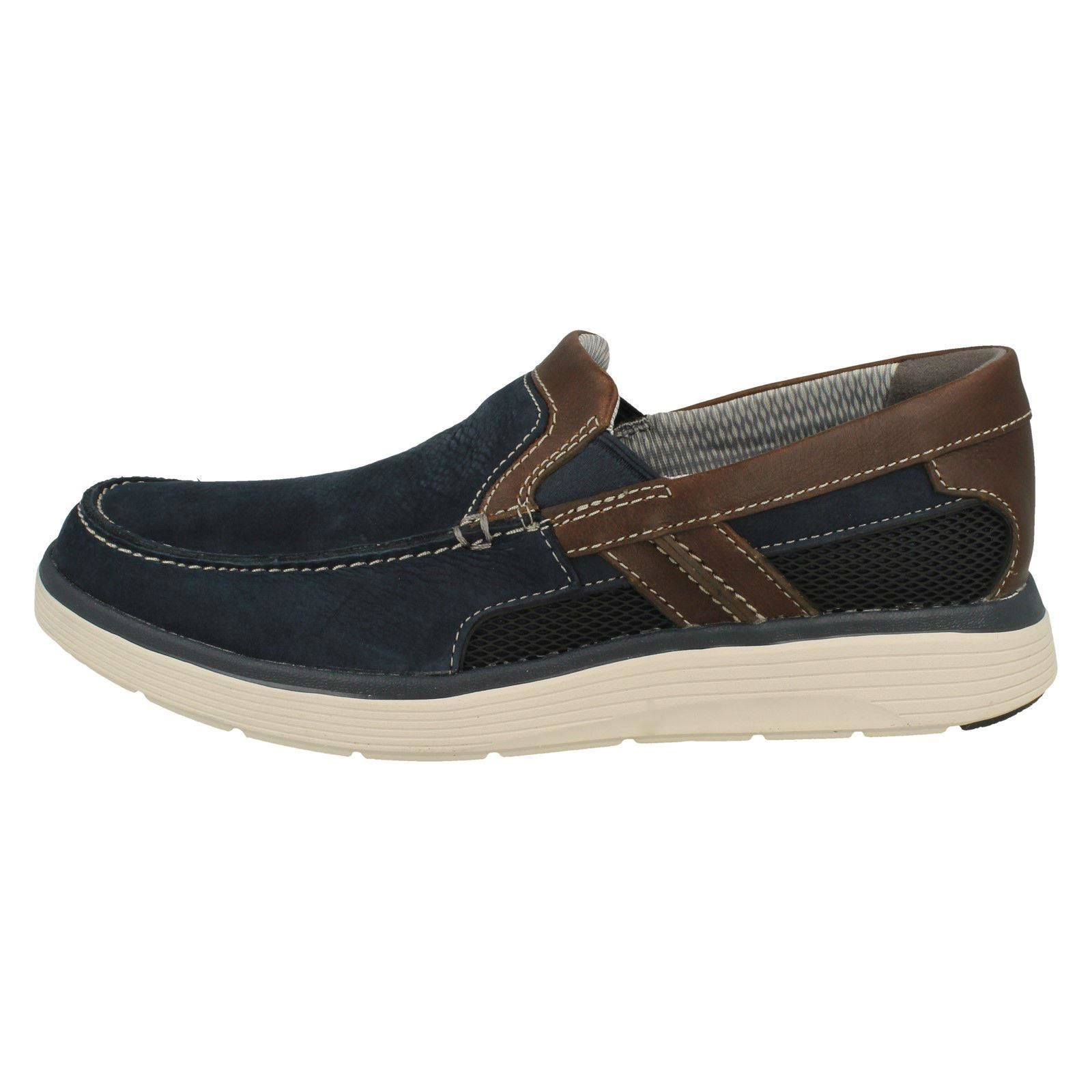 Men's Unstructured by Clarks Casual Slip On Shoes Label - Un Abode Free