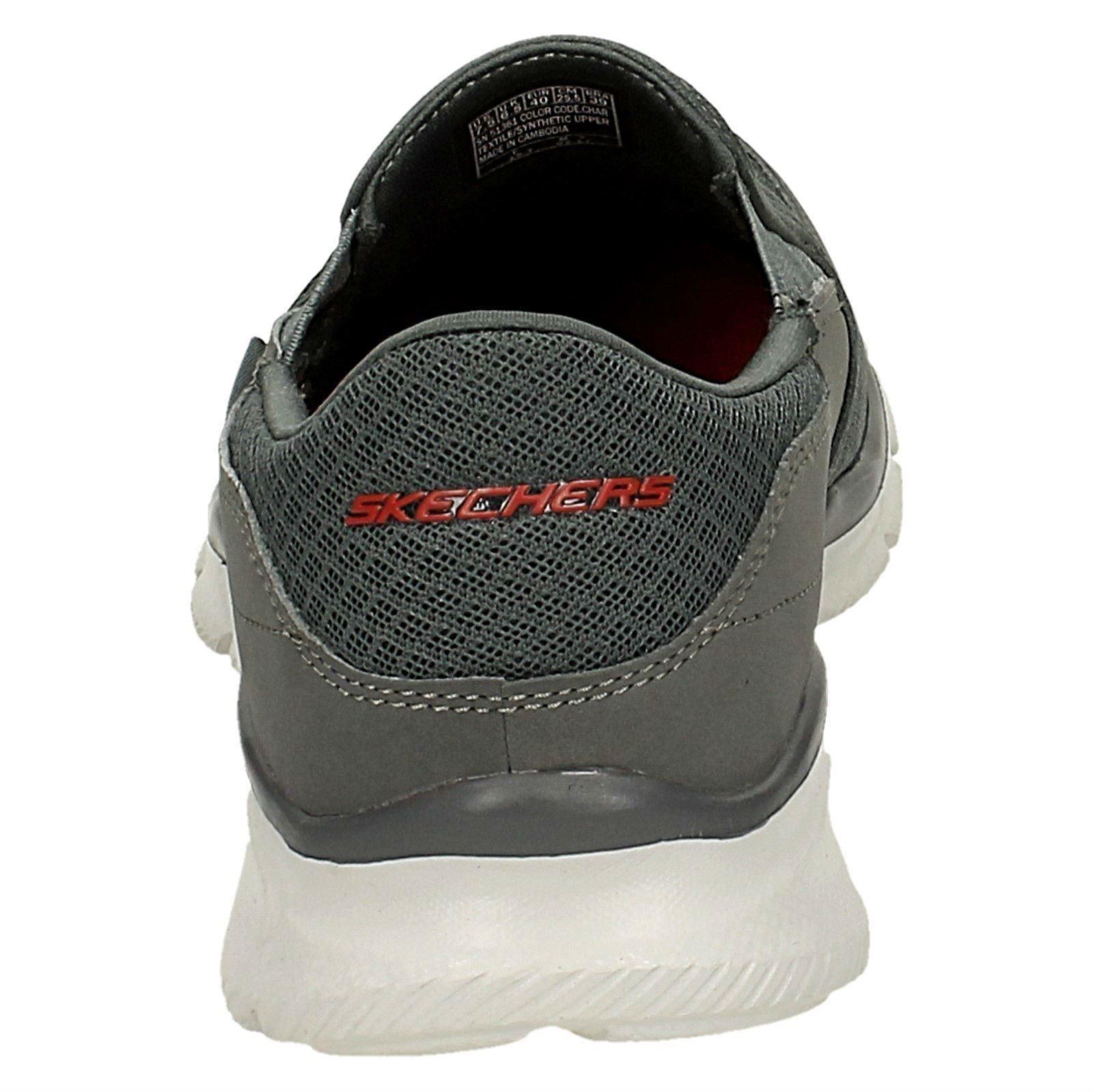 Mens Skechers Memory Persistent Foam Slip On Trainers Persistent Memory / 51361 1ac216