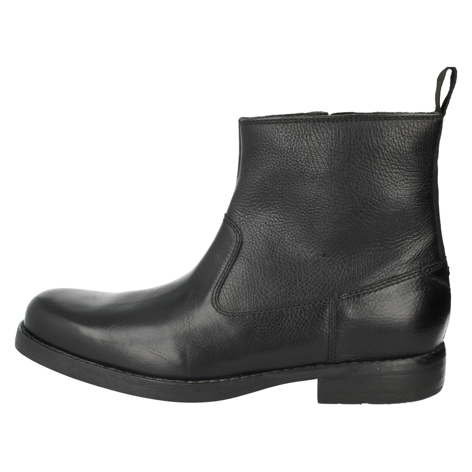 Men's Clarks Leather Smart Boots The Style - Ashburn Zip