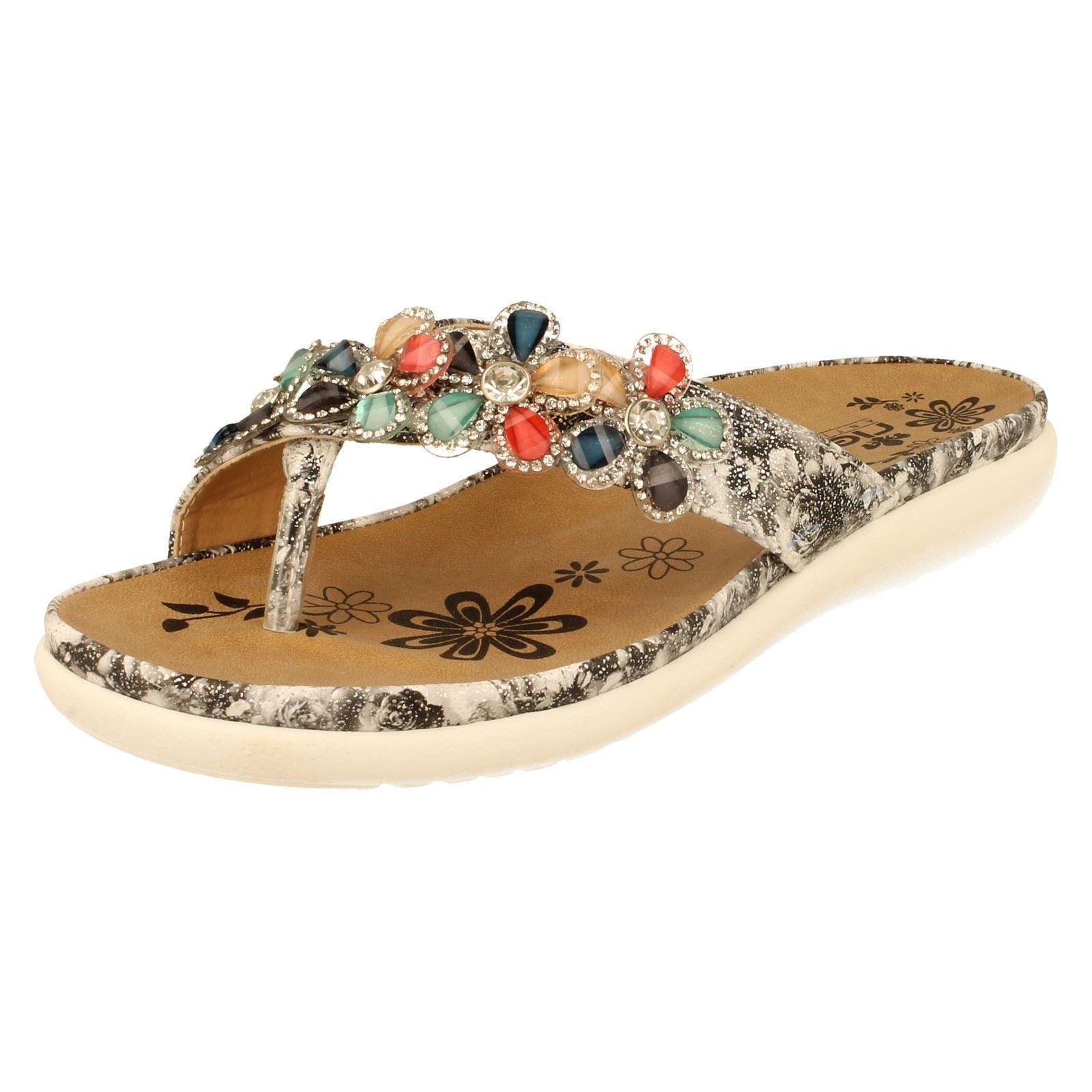 Femmes Rieker Rieker Rieker toe post sandals Label V9591-W 4d778e