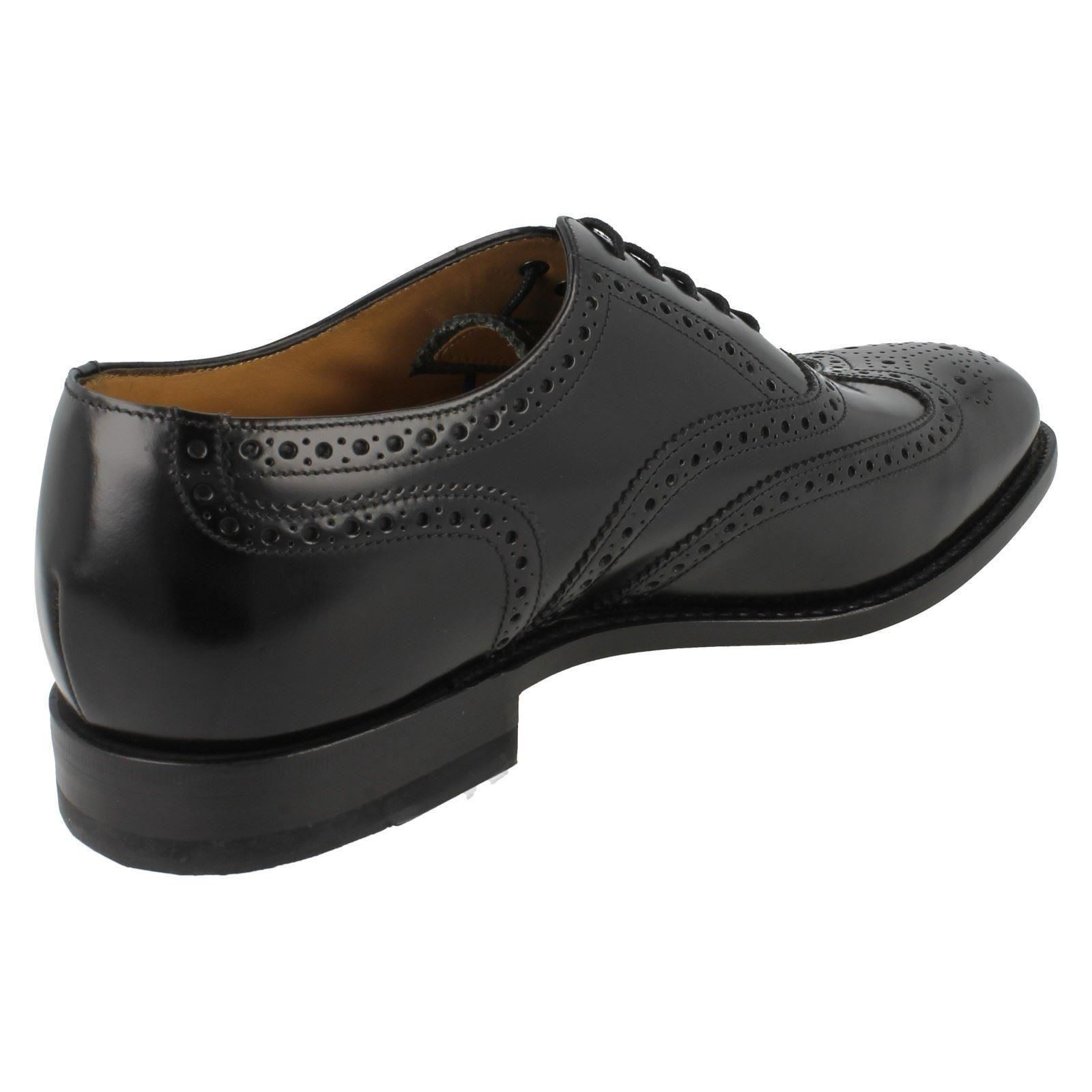 mens loake formal leather brogue shoes fitting g 202 ebay
