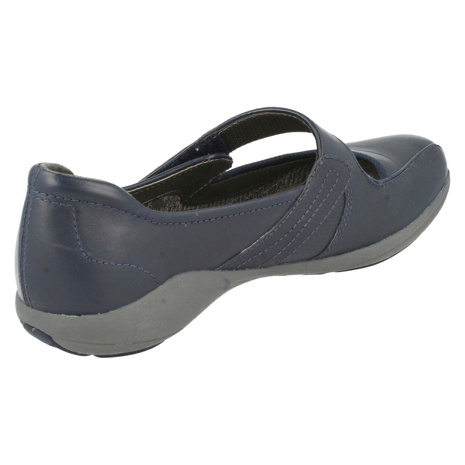 Zapatos de Cuero Damas Clarks Active Air Estilo-Indigo Bar