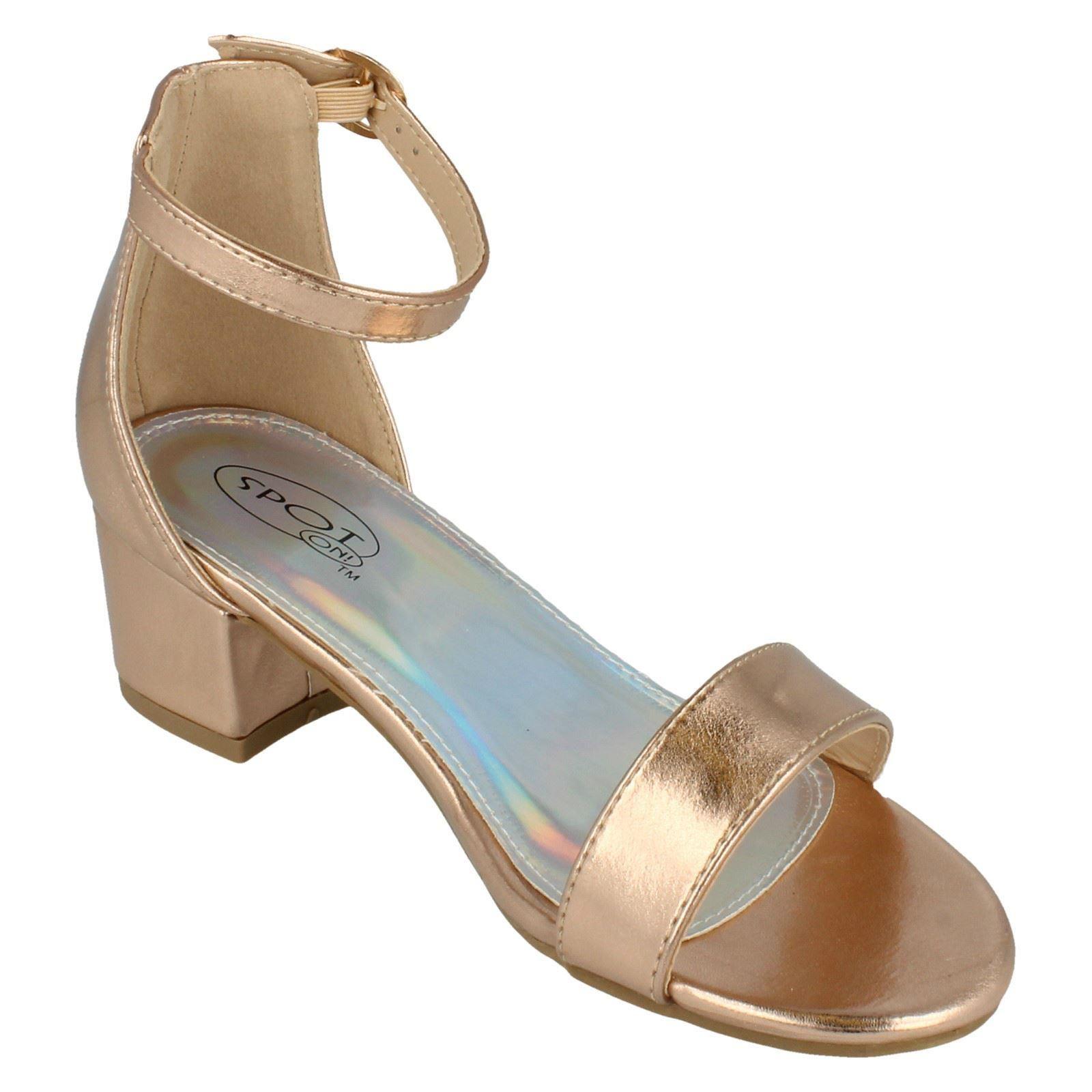 Girls Spot On Open Toe Sandals H1100 - D