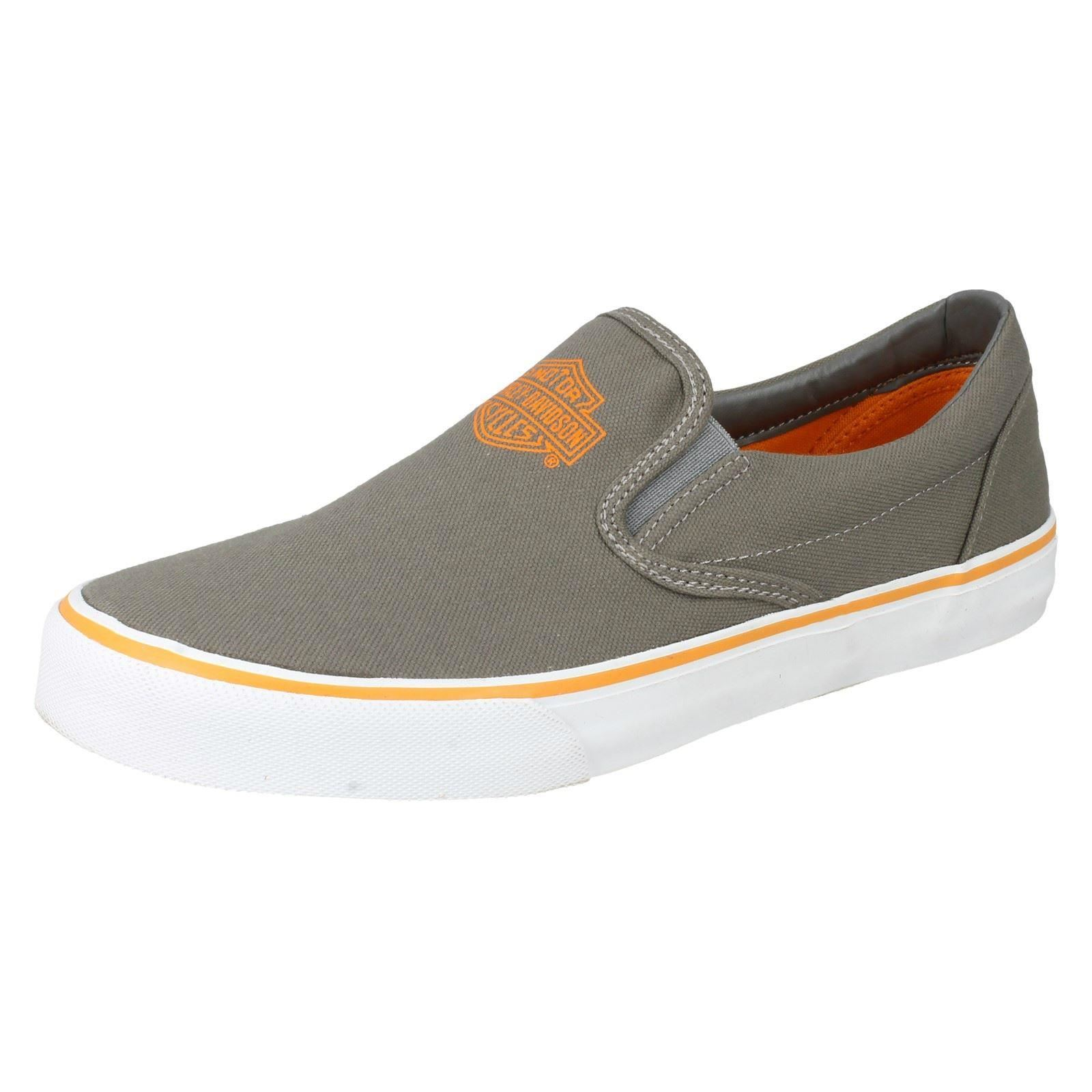 12edf95850228b Harley Davidson Mens Casual Slip on PUMPS Marchmont D93320 Grey UK ...