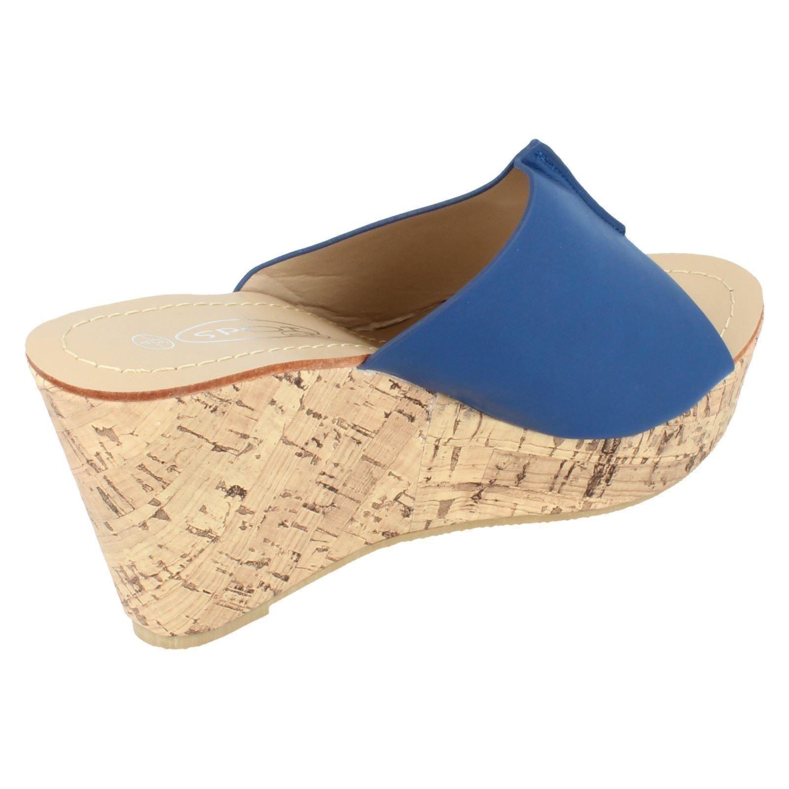 Sandalias de cuña señoras de punto en F10275 ~ N