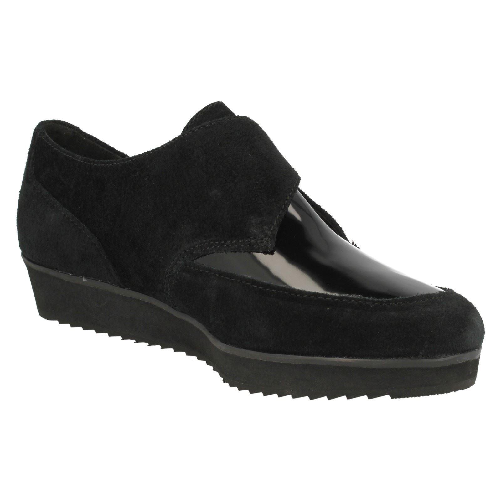 Ladies Buckle Casual K Shoes Clarks 'compass Point' Black ~ zrzqUF