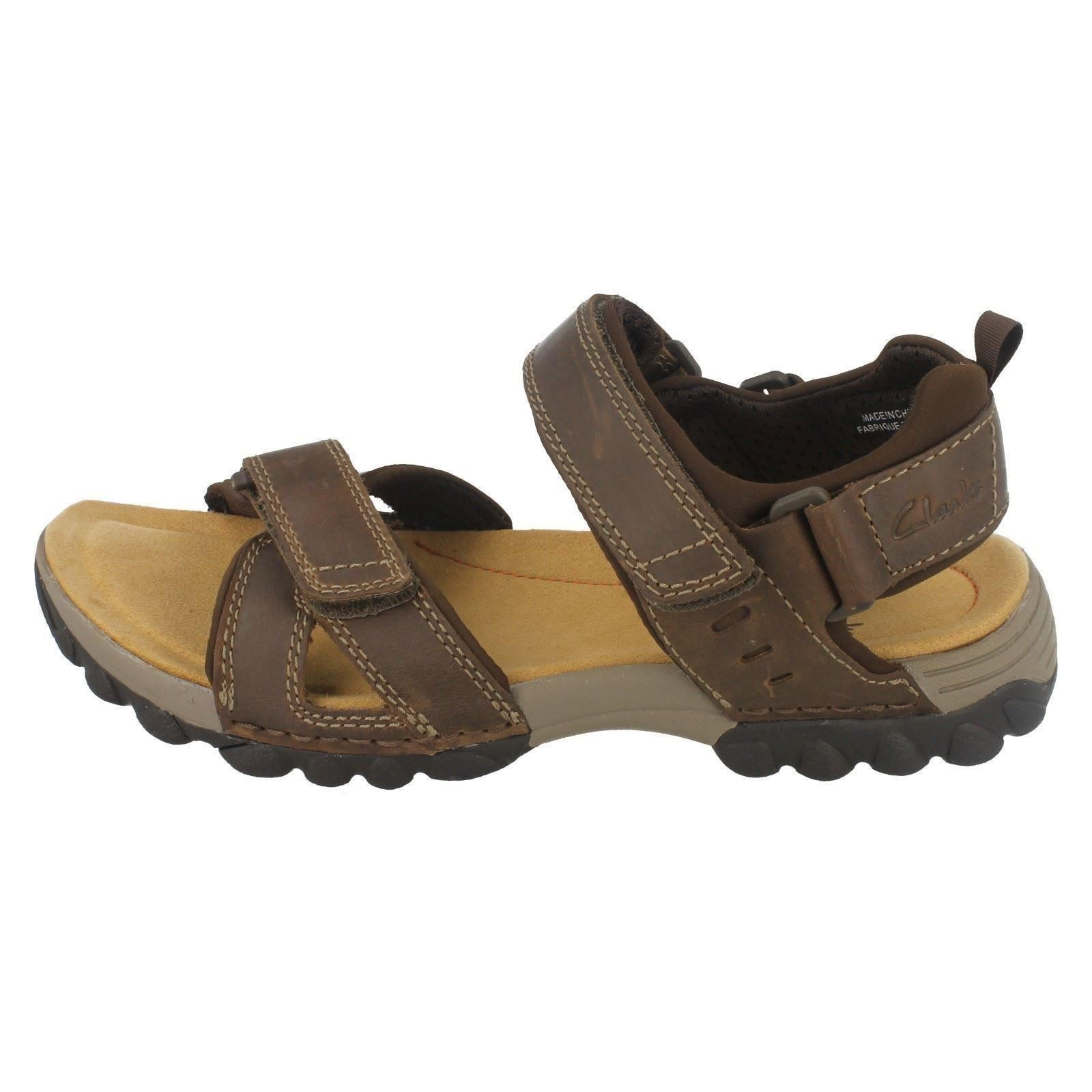 1a07ded9a1dc4 Clarks Mens Casual Vextor Part Nubuck Sandals in Tobacco 6.5 G. About this  product. Picture 1 of 8  Picture 2 of 8  Picture 3 of 8 ...