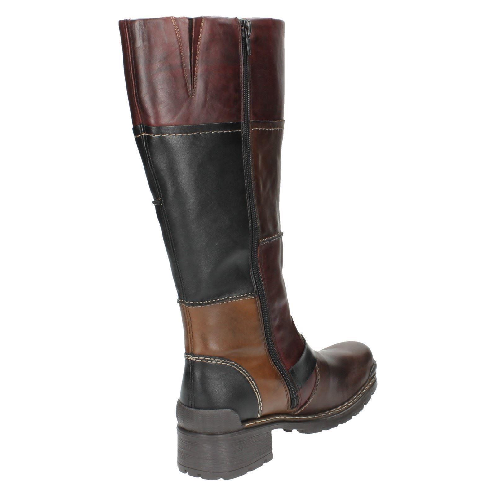 74382 Brown Long Ladies Rieker Boots qpxwUZB6