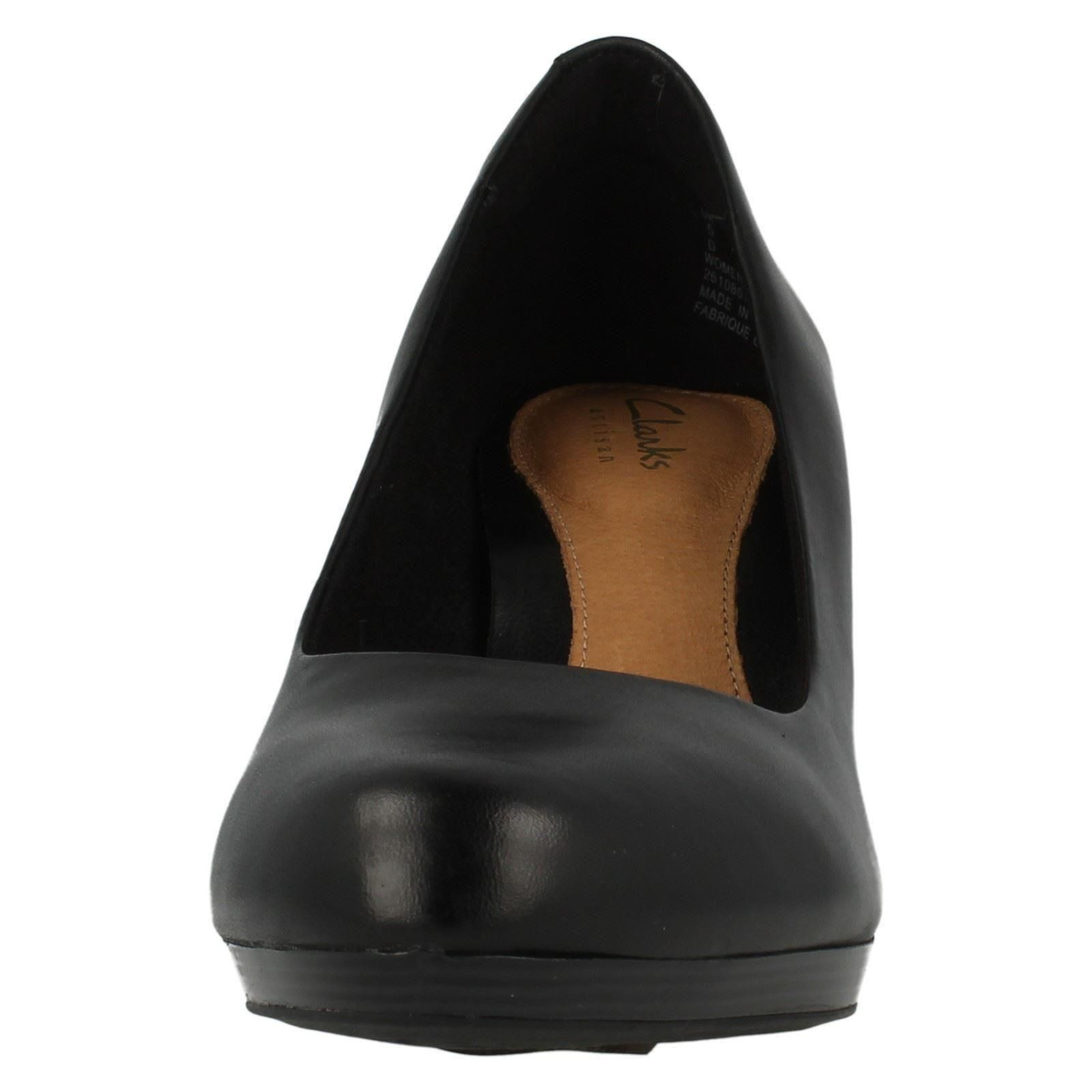 Tempt Court Clarks Ladies Appeal Black Leather Smooth Shoes qFwgAZ4g