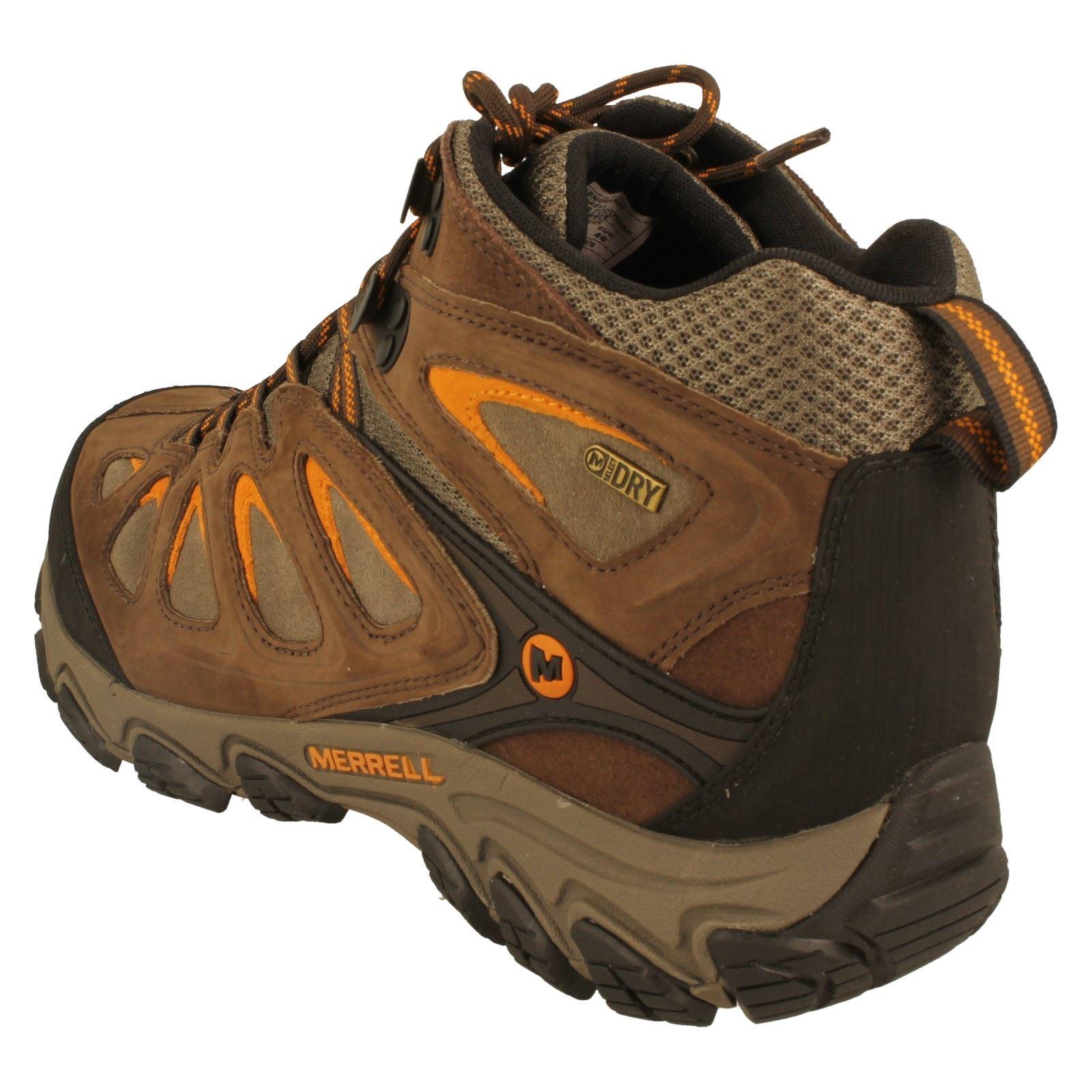 Mens Merrell Walking Boots Pulsate Mid Waterproof - W
