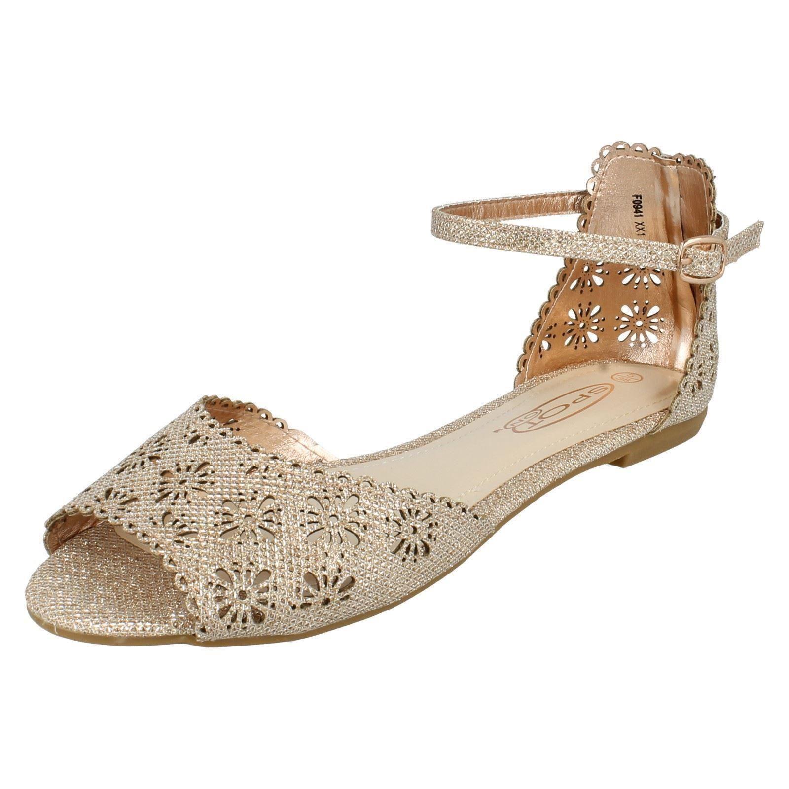 Ladies Spot On Sandals Label F0941