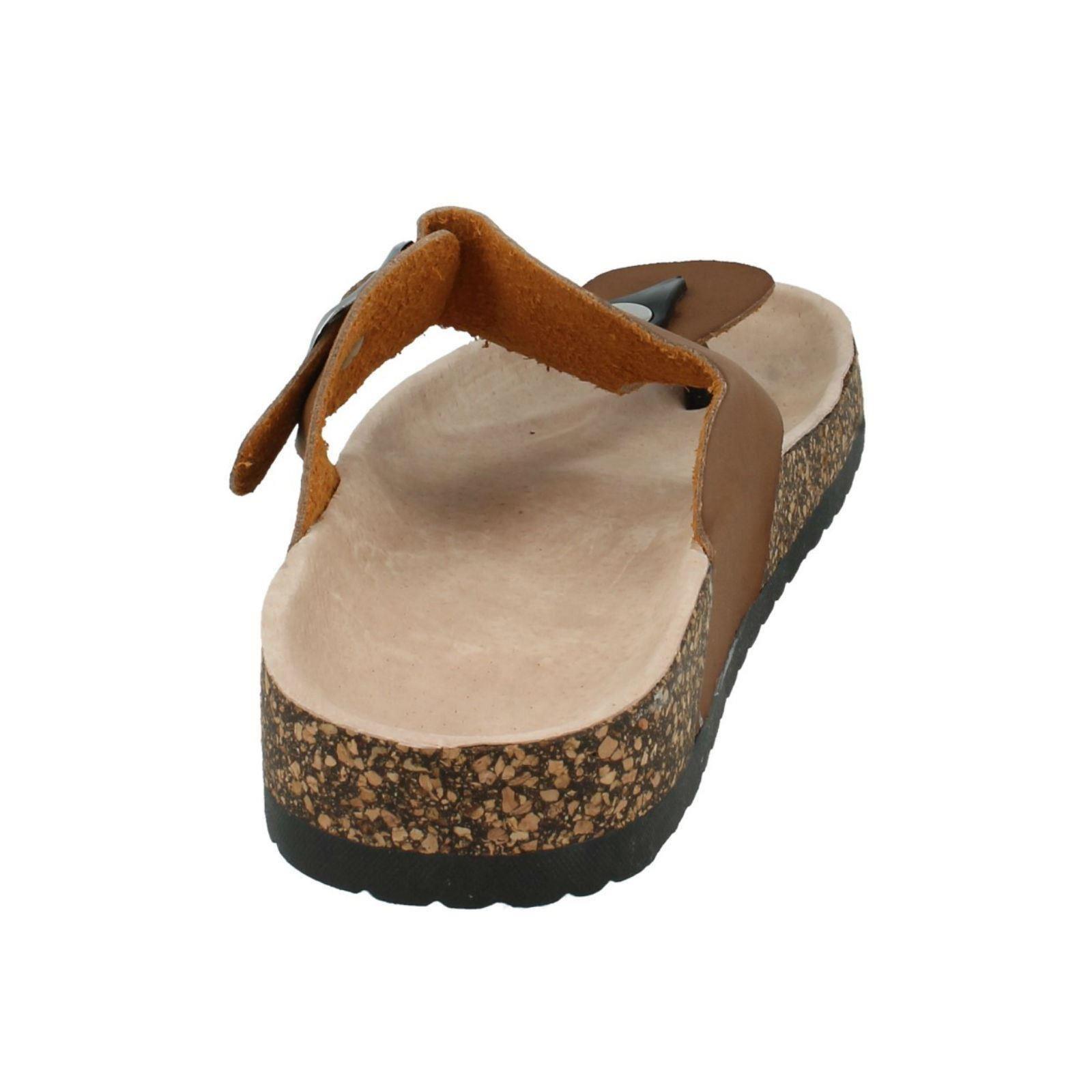 Señoras Resbalón En Sandalias Informales de Cuero Sintético mancha en el estilo-F10294