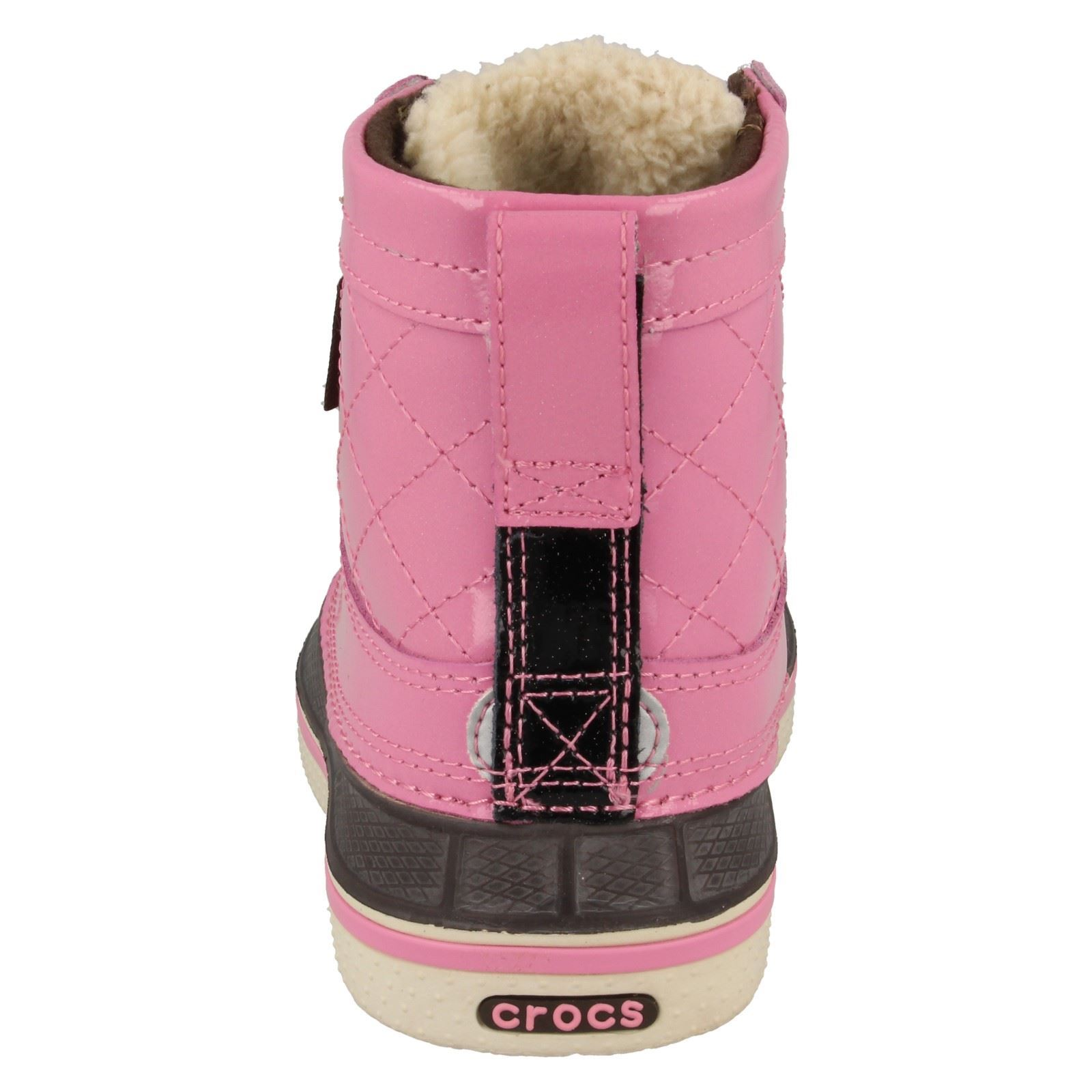 Childrens Crocs Faux Fur Lined Boots Style - Allcast Duck