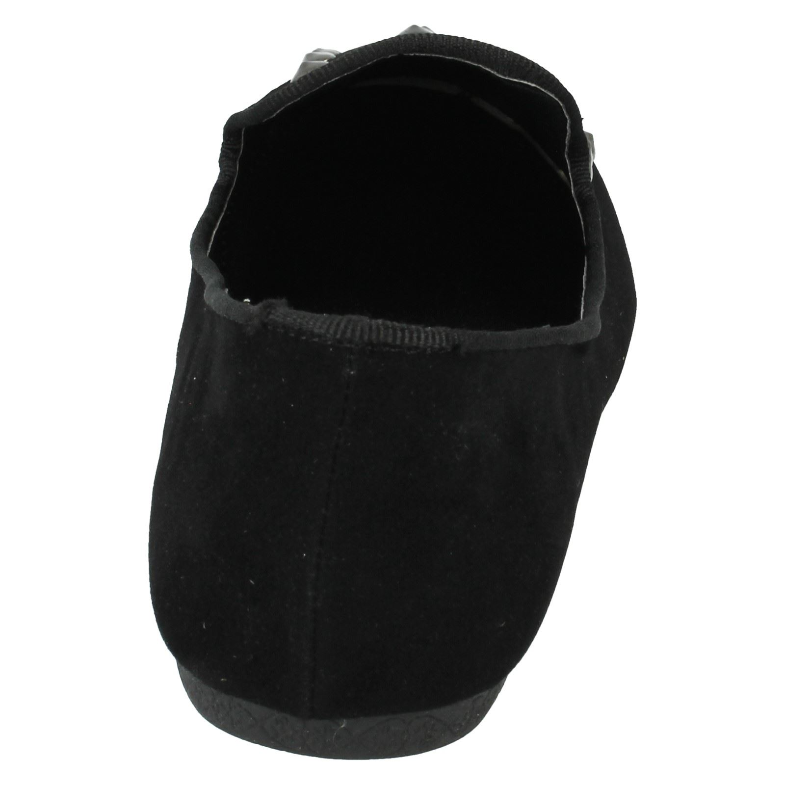 Señoras de punto en tachonado Zapatos Planos f8865