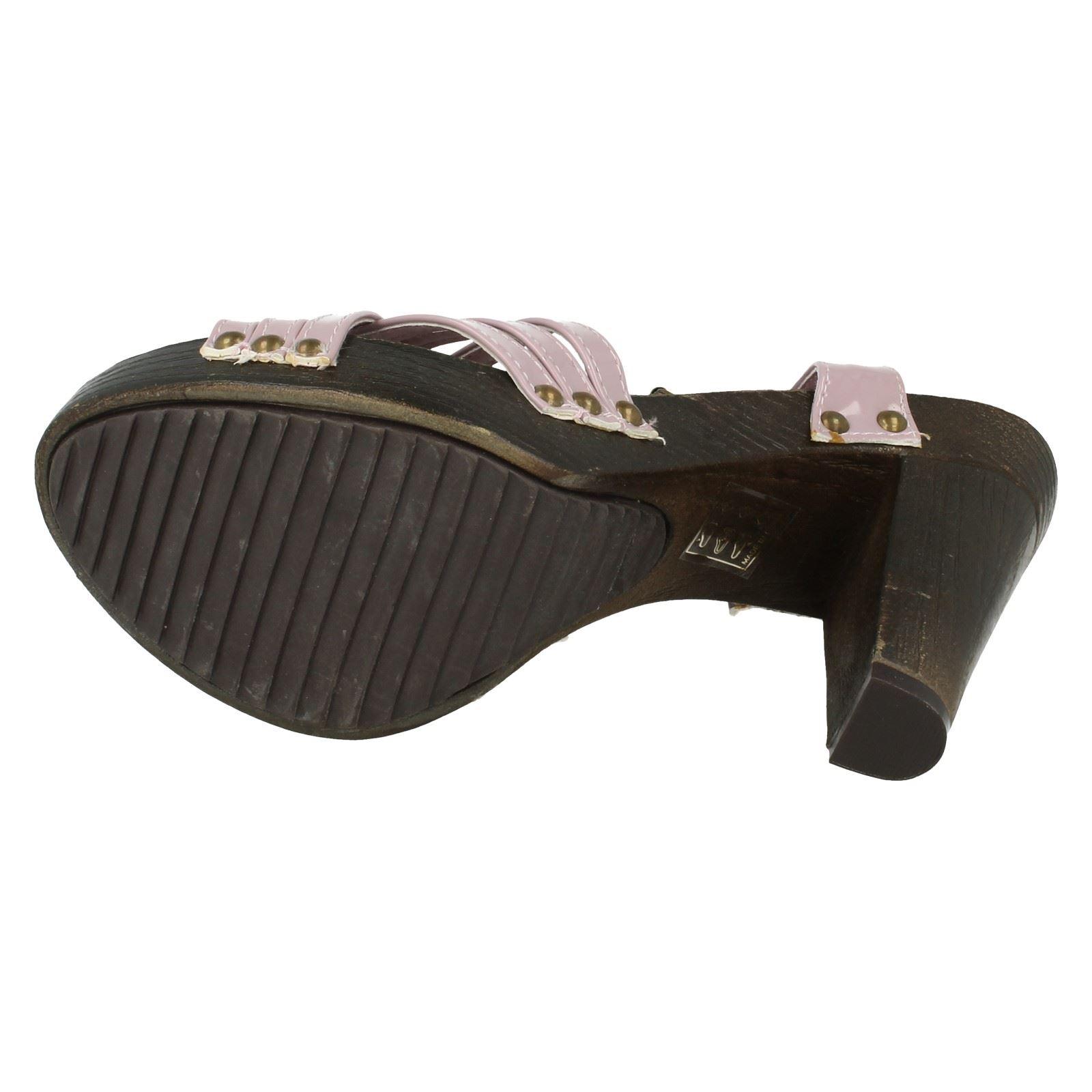 Señoras punto en Bloque Talón Sandalias el estilo-F1933