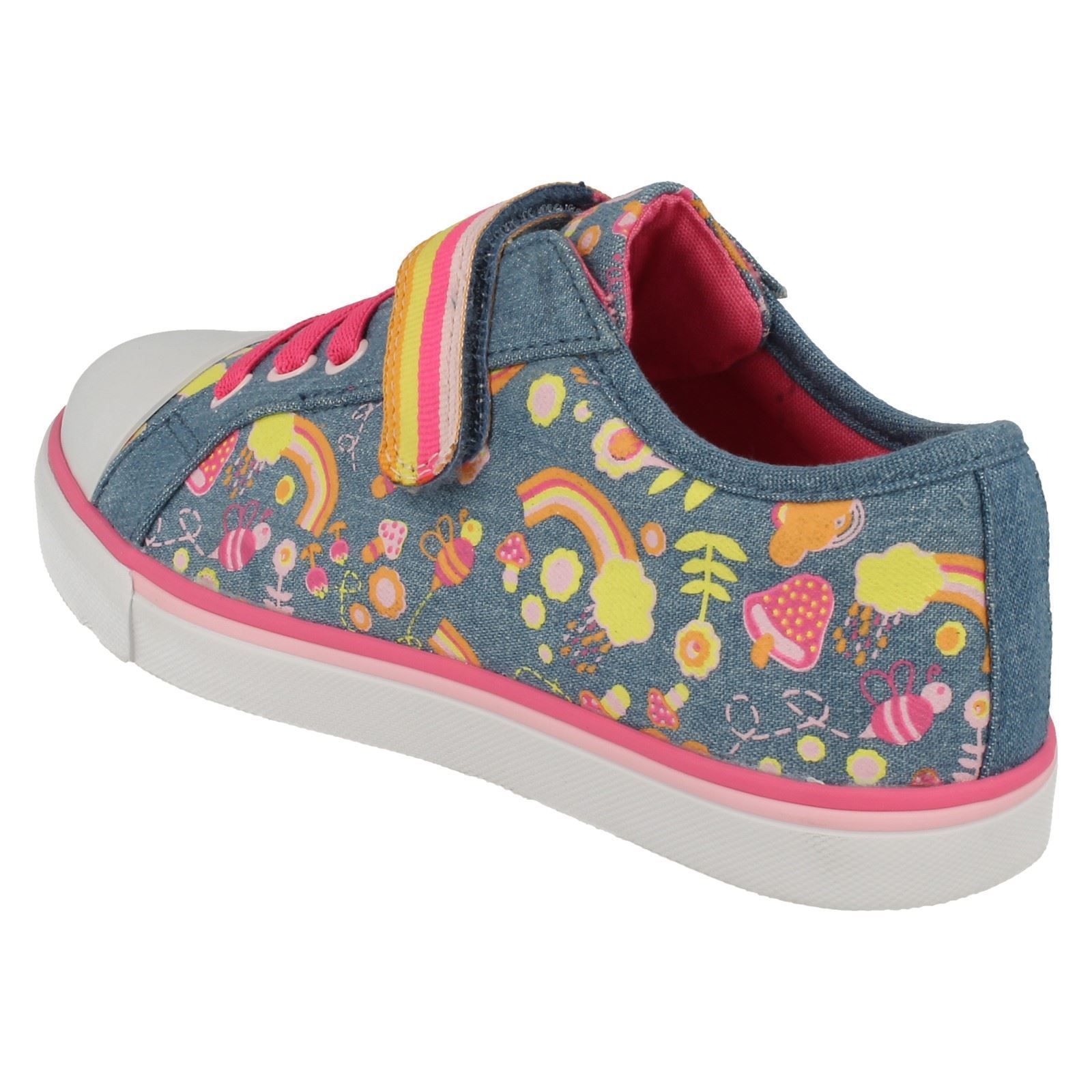 Girls Clarks Canvas Shoes Style - Brill Doll