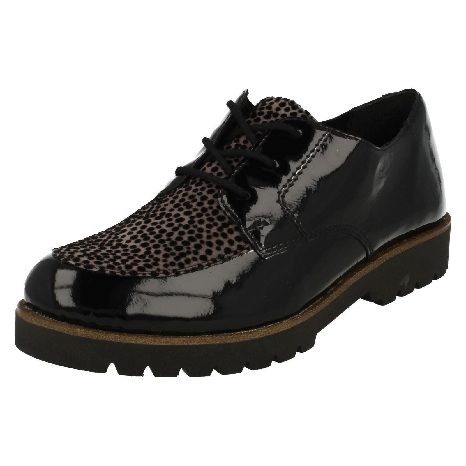 Combination Casual Flat Remonte Style Shoes Ladies Black D0103 05fPqZE