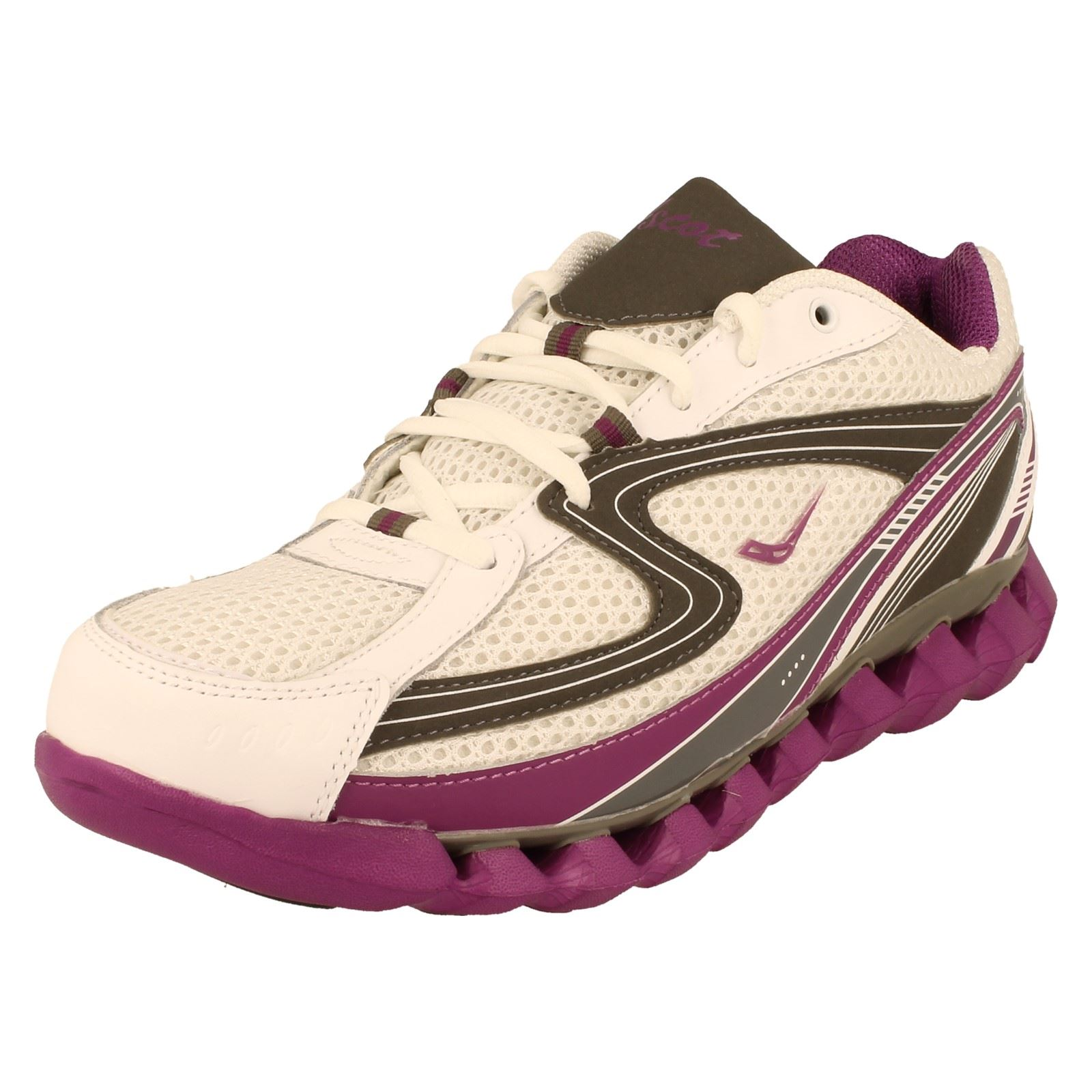 Ladies Ascot Lace Up Trainers in 2 Colours Style SPRING WAVE