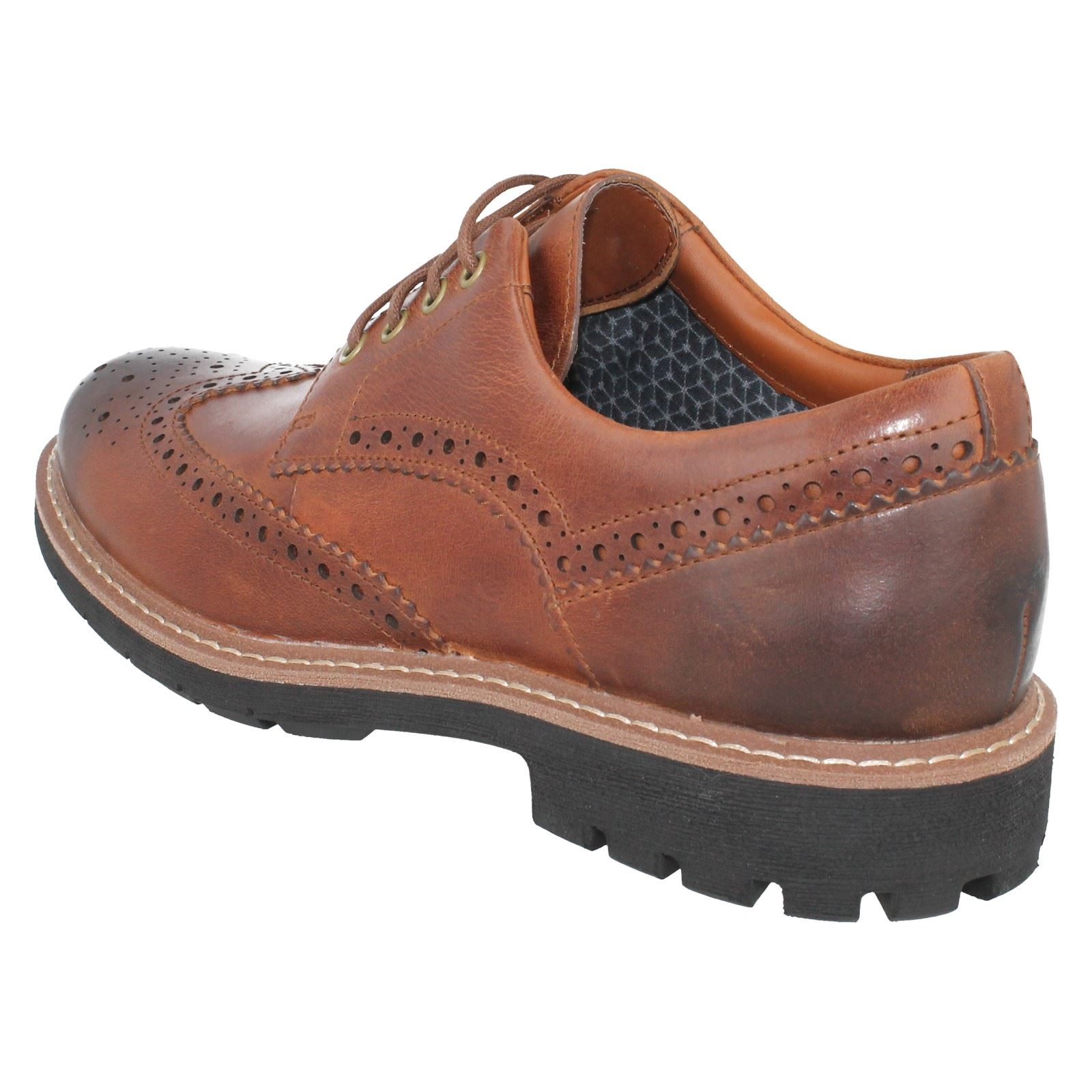 Men's Clarks Brogue Casual Lace Up Shoes Style - Batcombe Wing